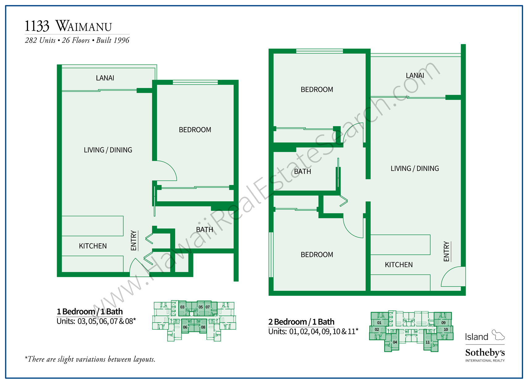 1133 Waimanu Floor Plans Updated