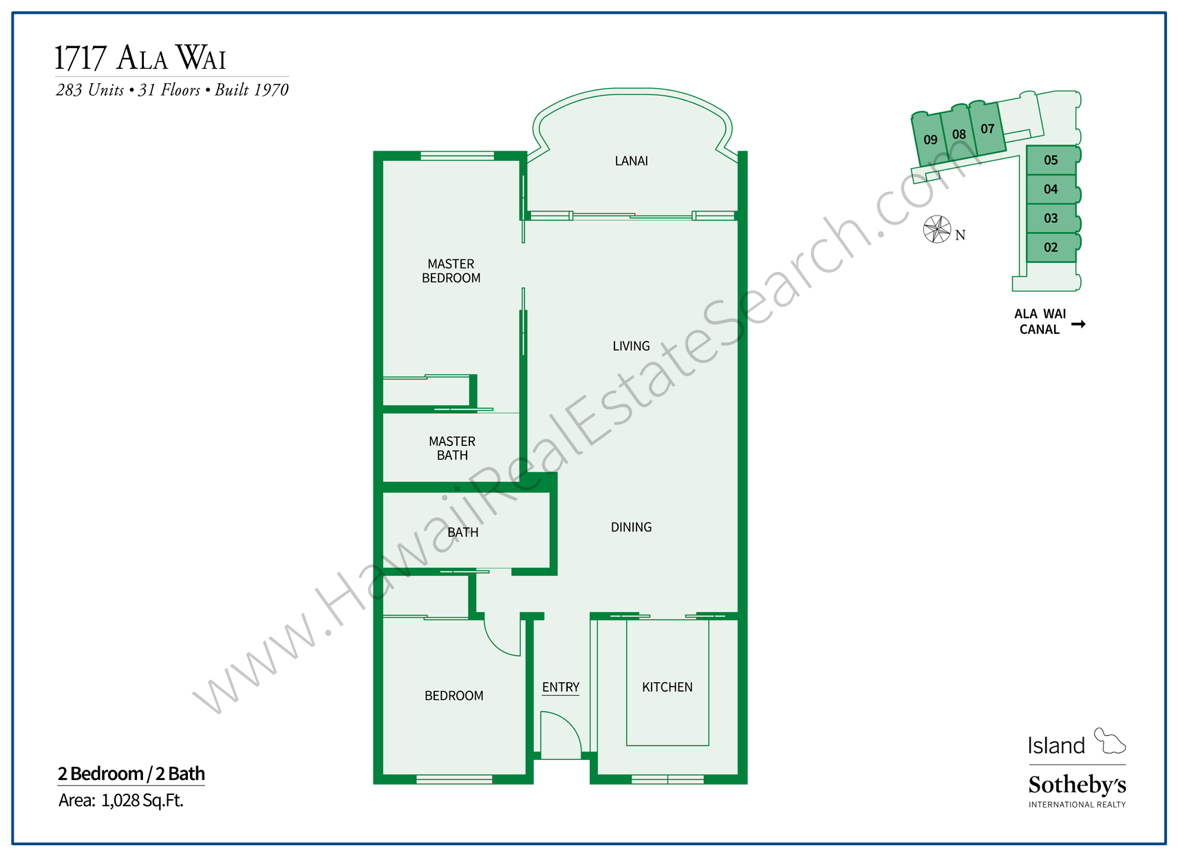 1717 Ala Wai Floor Plan Updated 2018