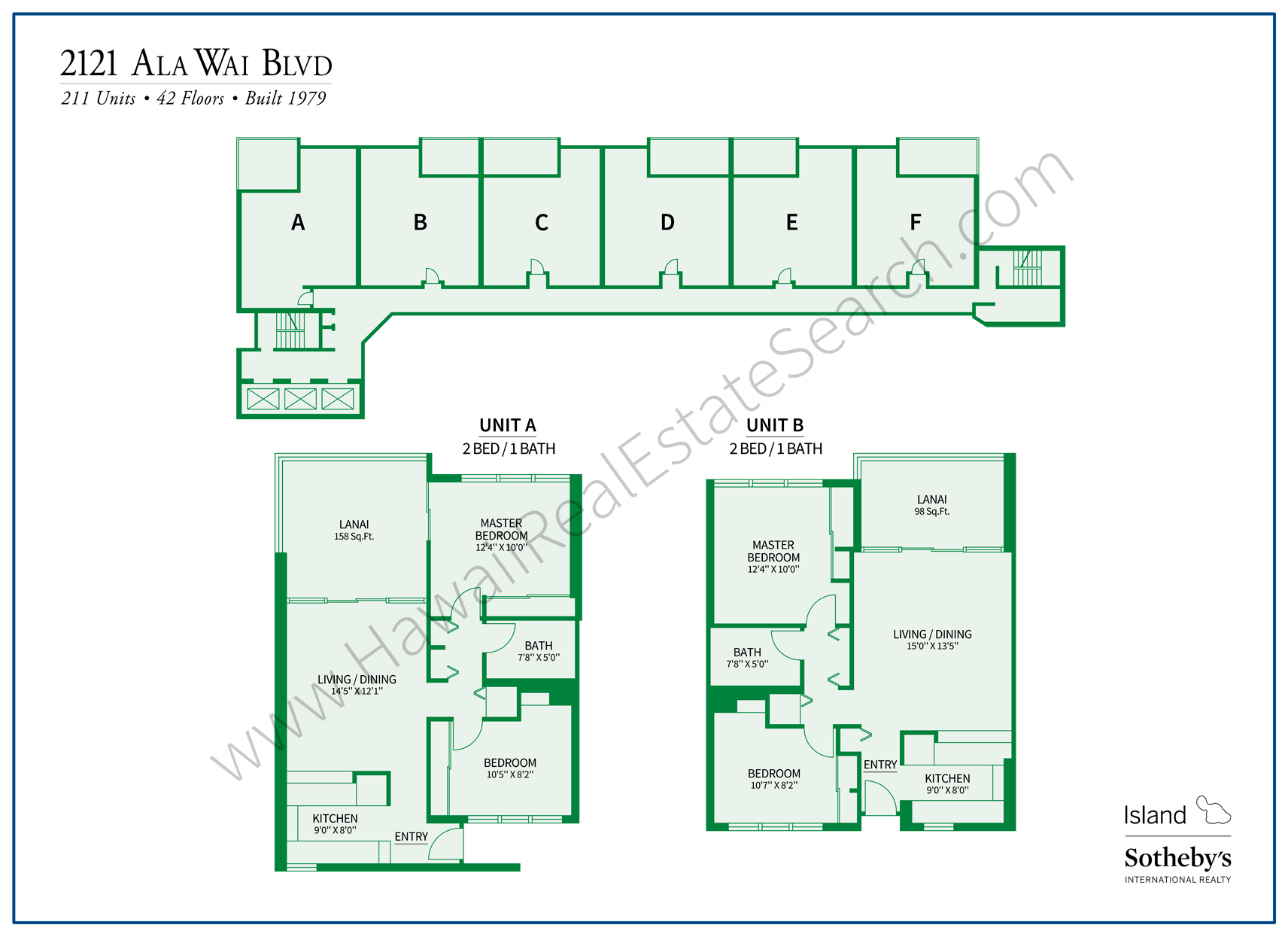 2121 Ala Wai Blvd Property Map and Floor Plans