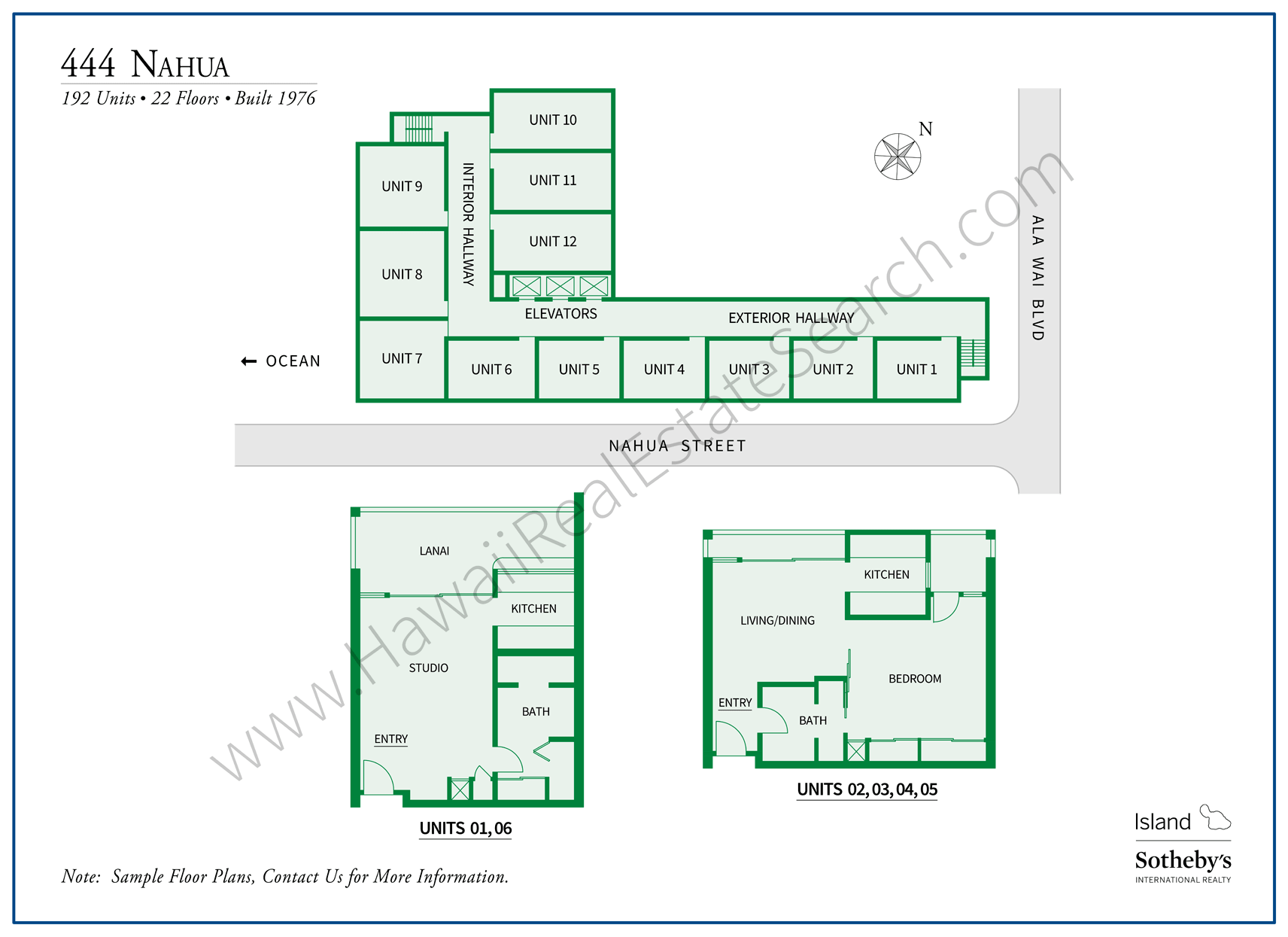 444 Nahua Property Map and Floor Plans