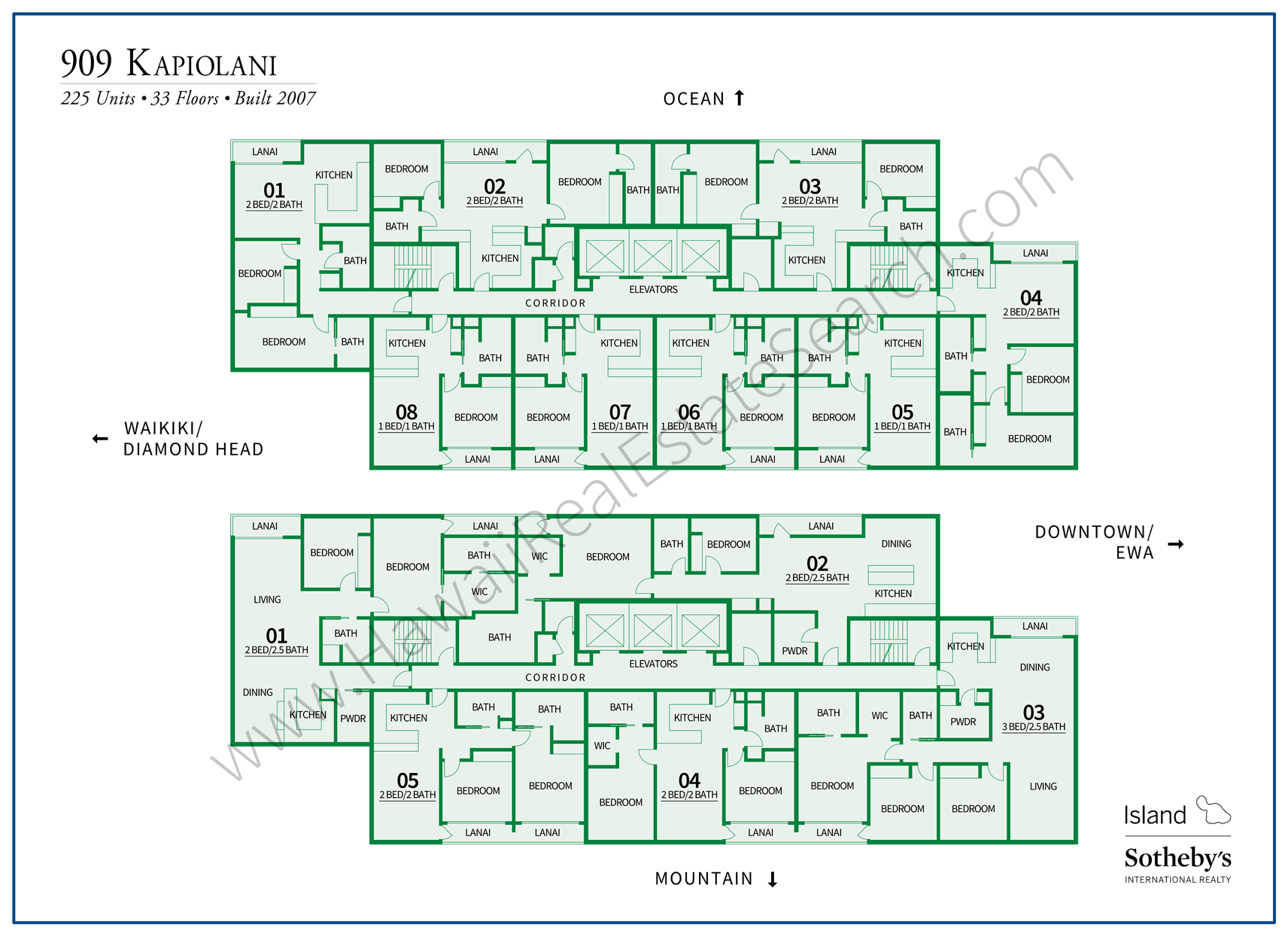 909 Kapiolani Map