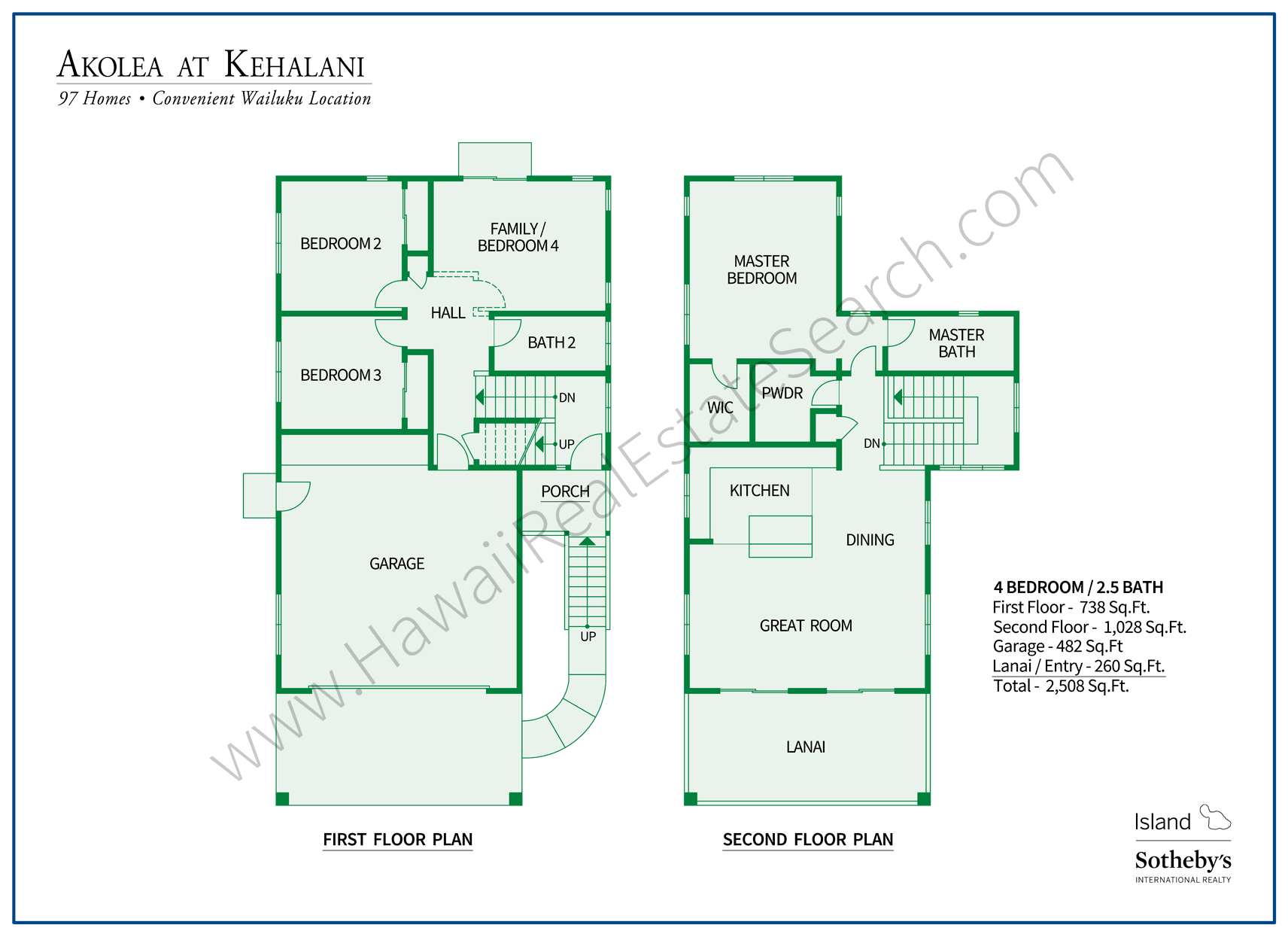 Akolea at Kehalani Floorplan 1