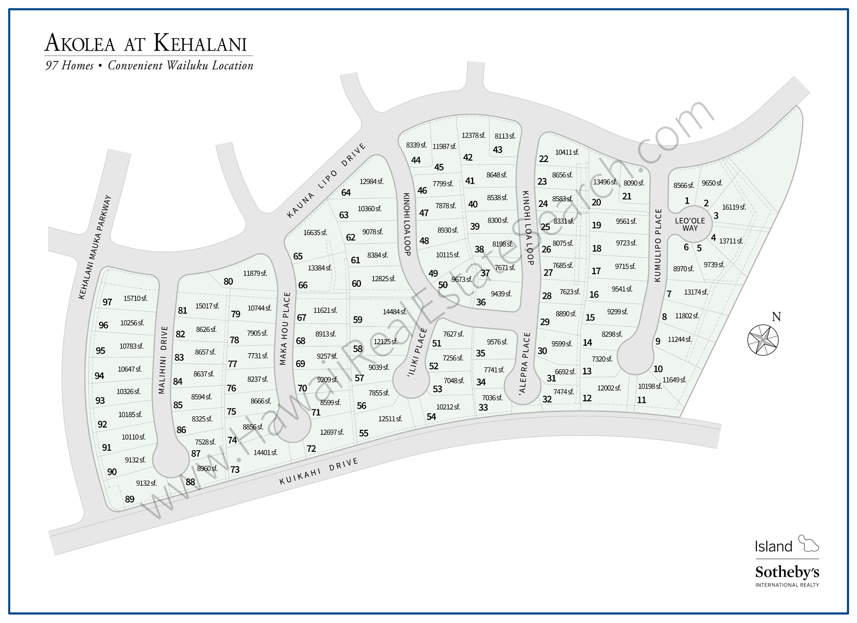 Akolea at Kehalani Neighborhood Map