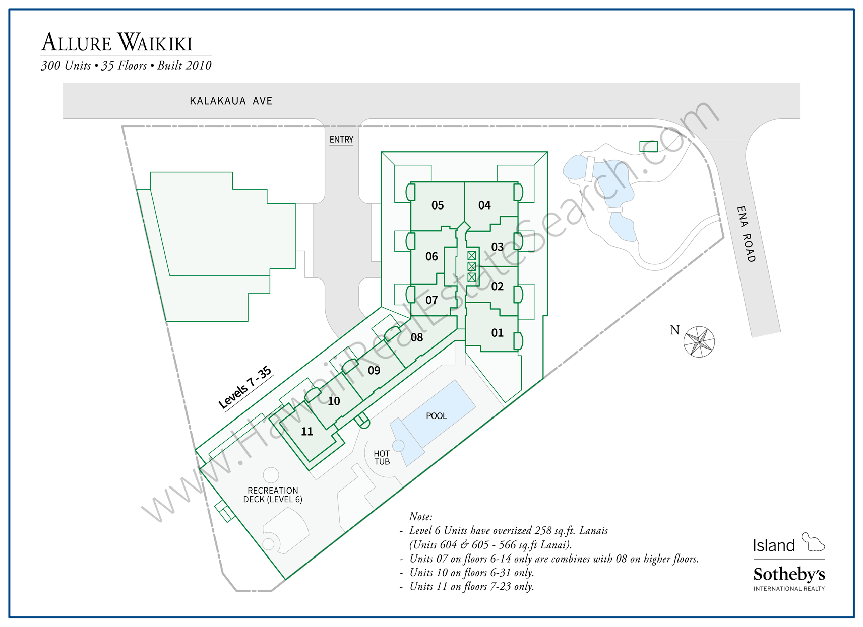 Allure Waikiki Map Updated 2018