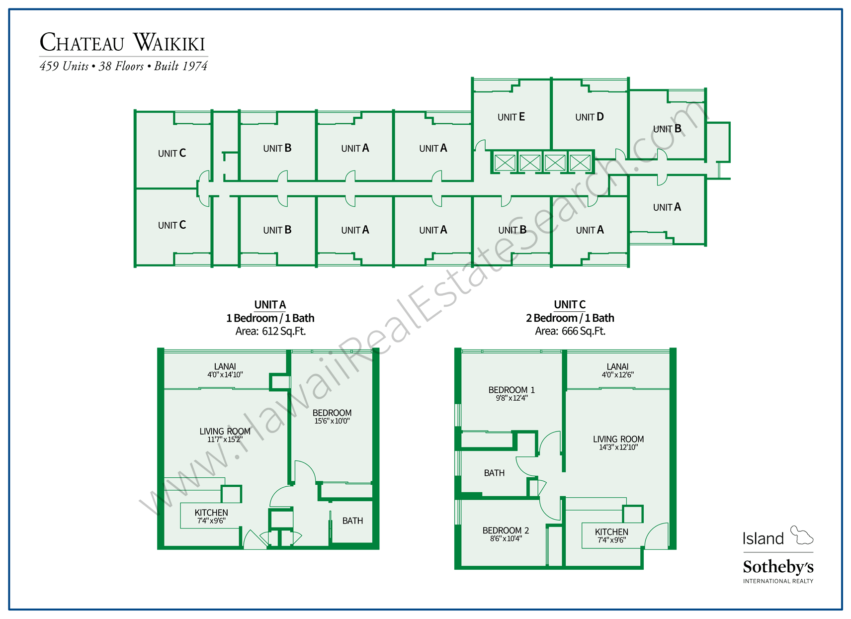 Chateau Waikiki Property Map and Floor Plans