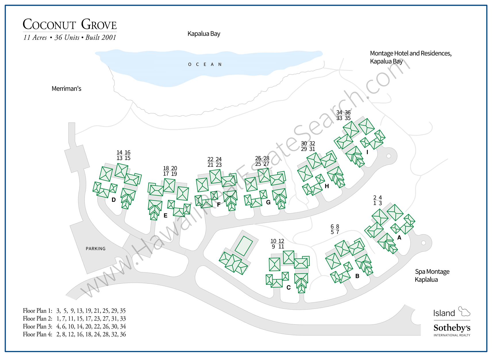 Kapalua Coconut Grove Property Map