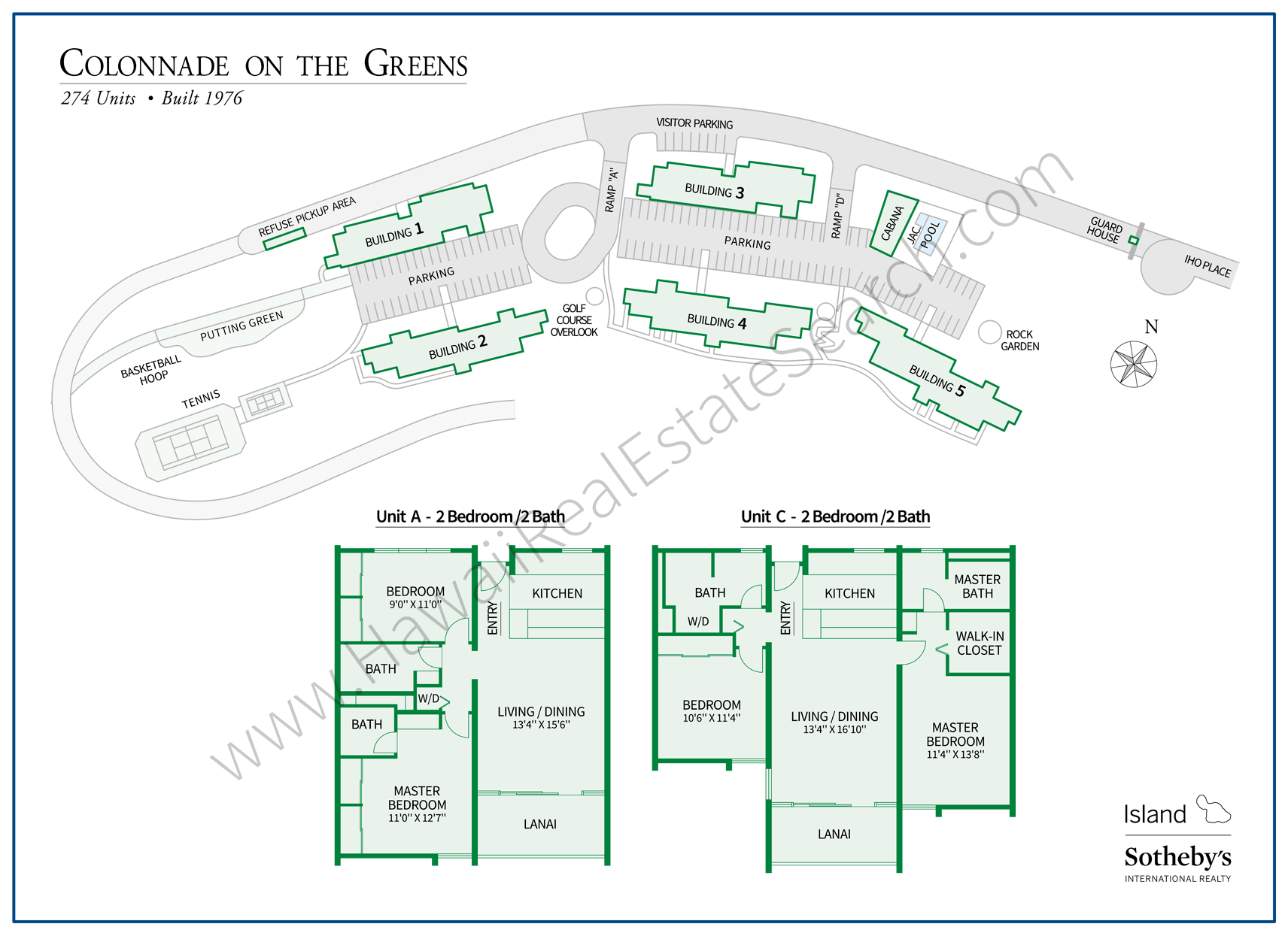 Colonnade on the Green - Map and Floor Plans