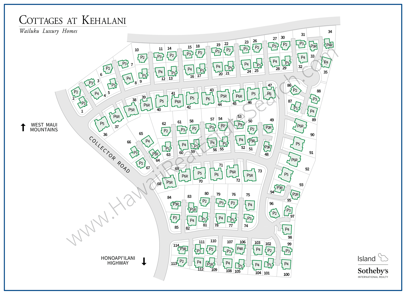 Cottages at Kehalani Property Map