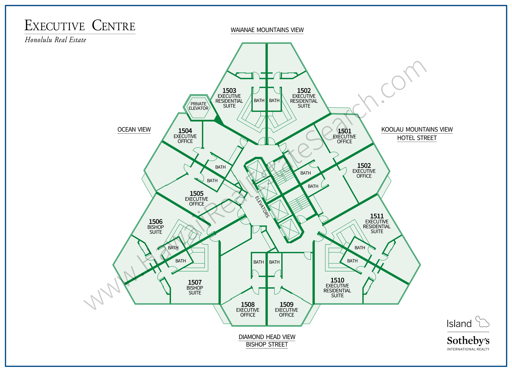 Executive Centre Map Honolulu