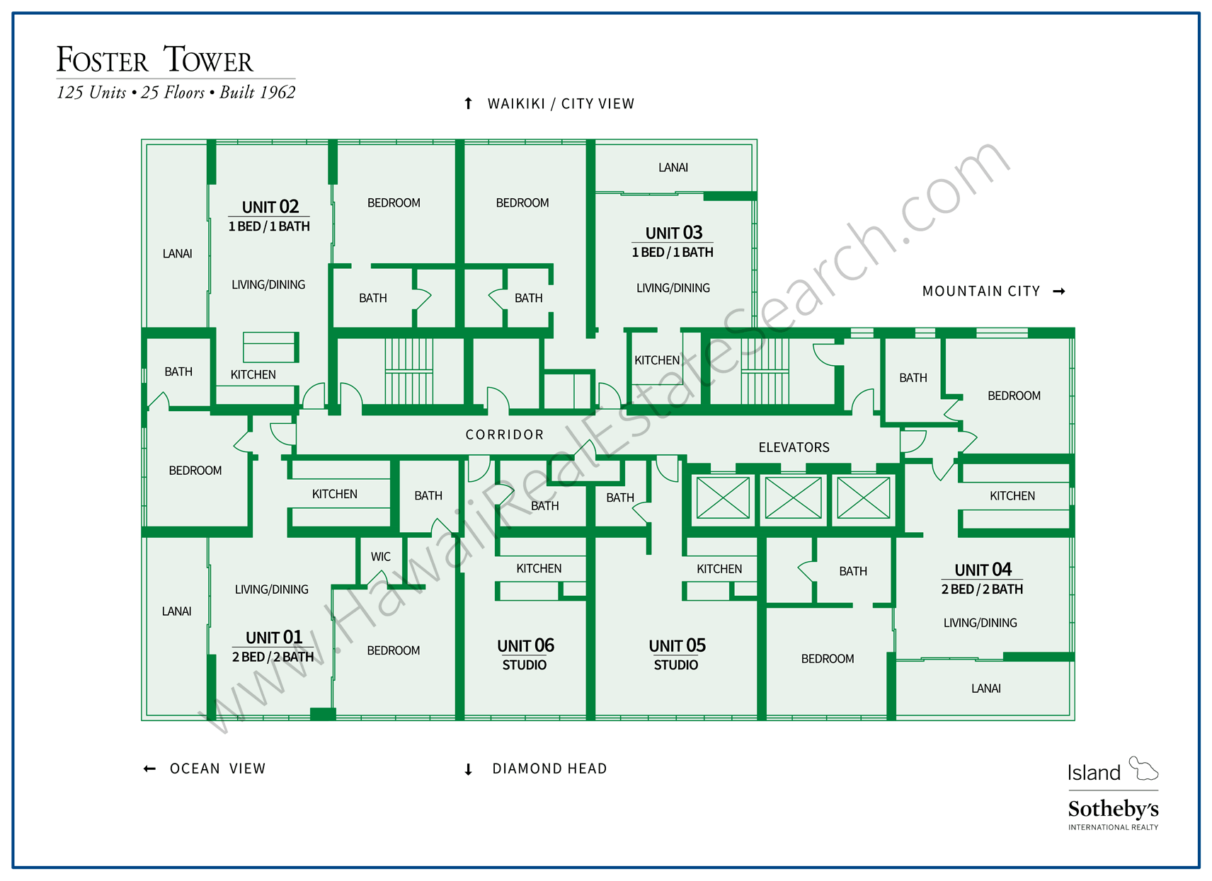 Foster Tower Property Map Waikiki