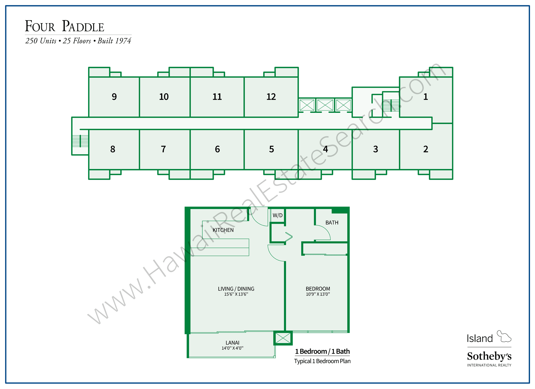 Four Paddle Property Map and Floor Plan