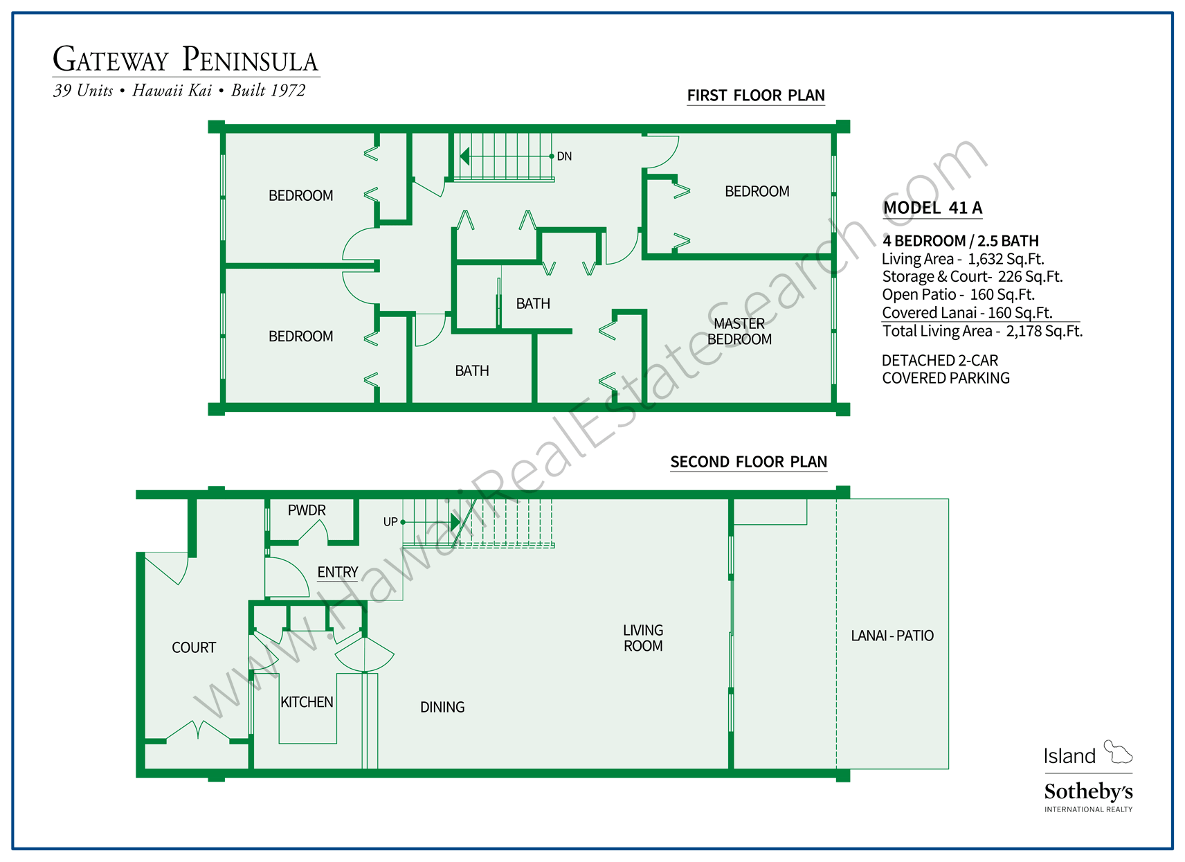 Gateway Peninsula Floor Plan at Hawaii Kai