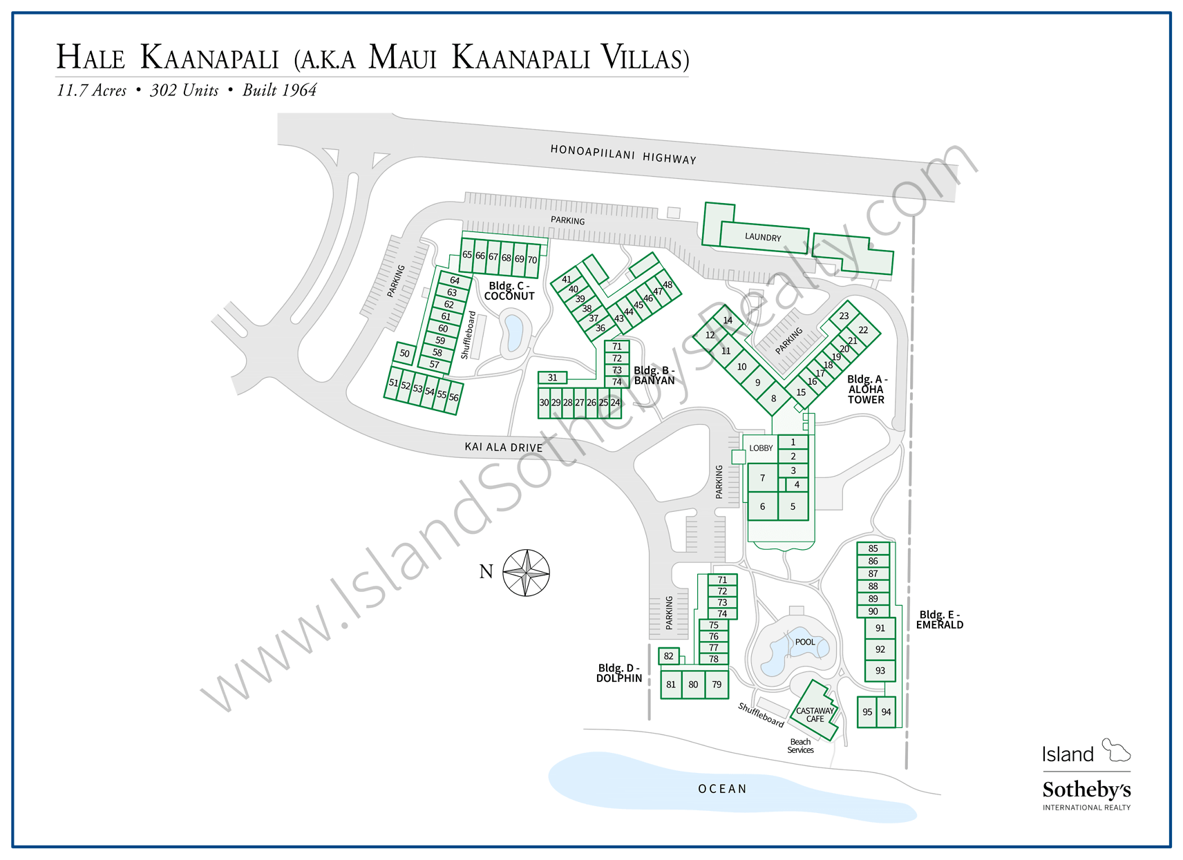 Hale Kaanapali Map