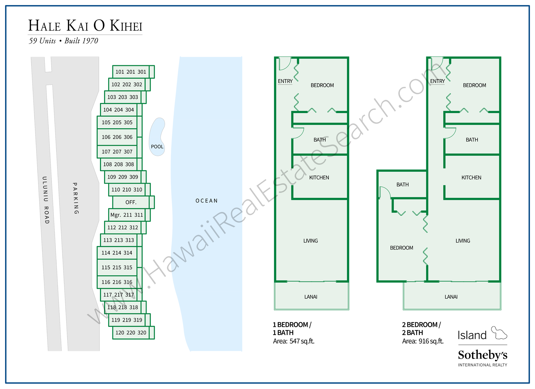 hale kai o kihei map and floor plans