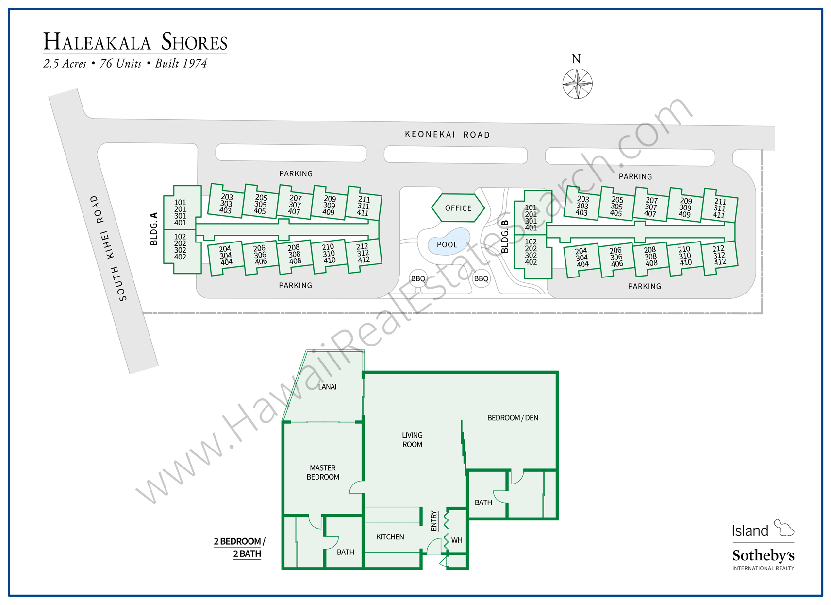 Haleakala Shores Property Map and Floor Plan