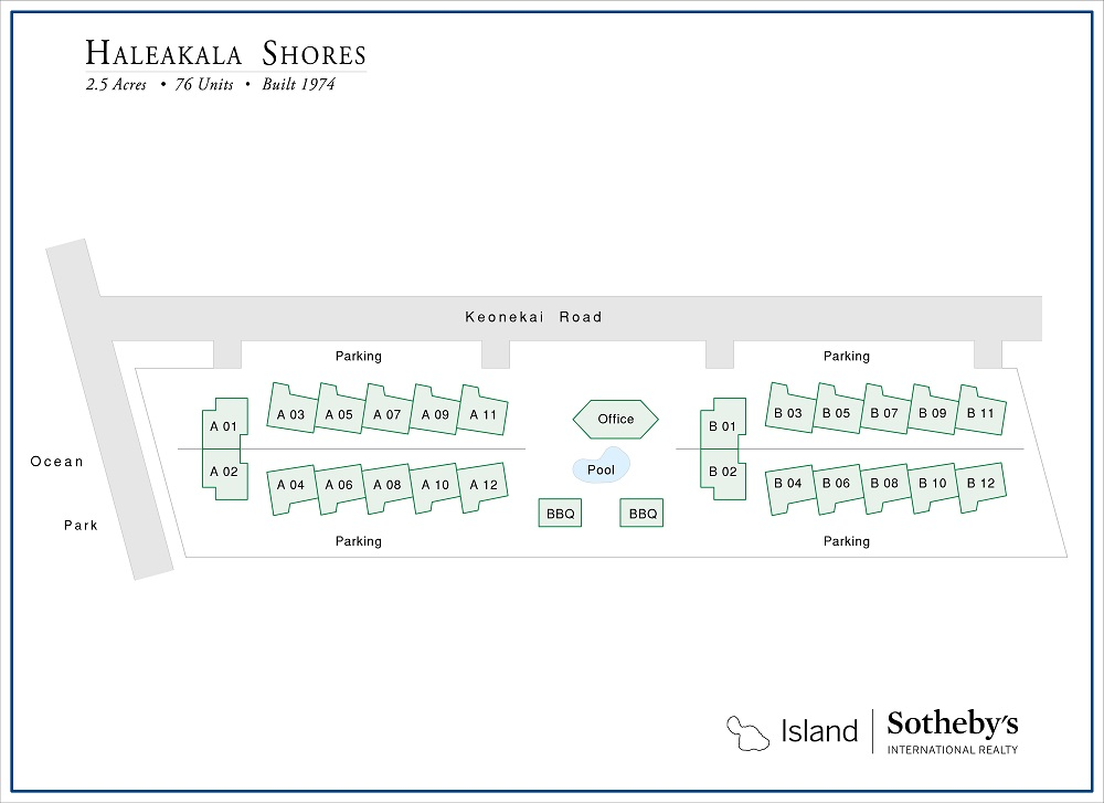 map haleakala shores
