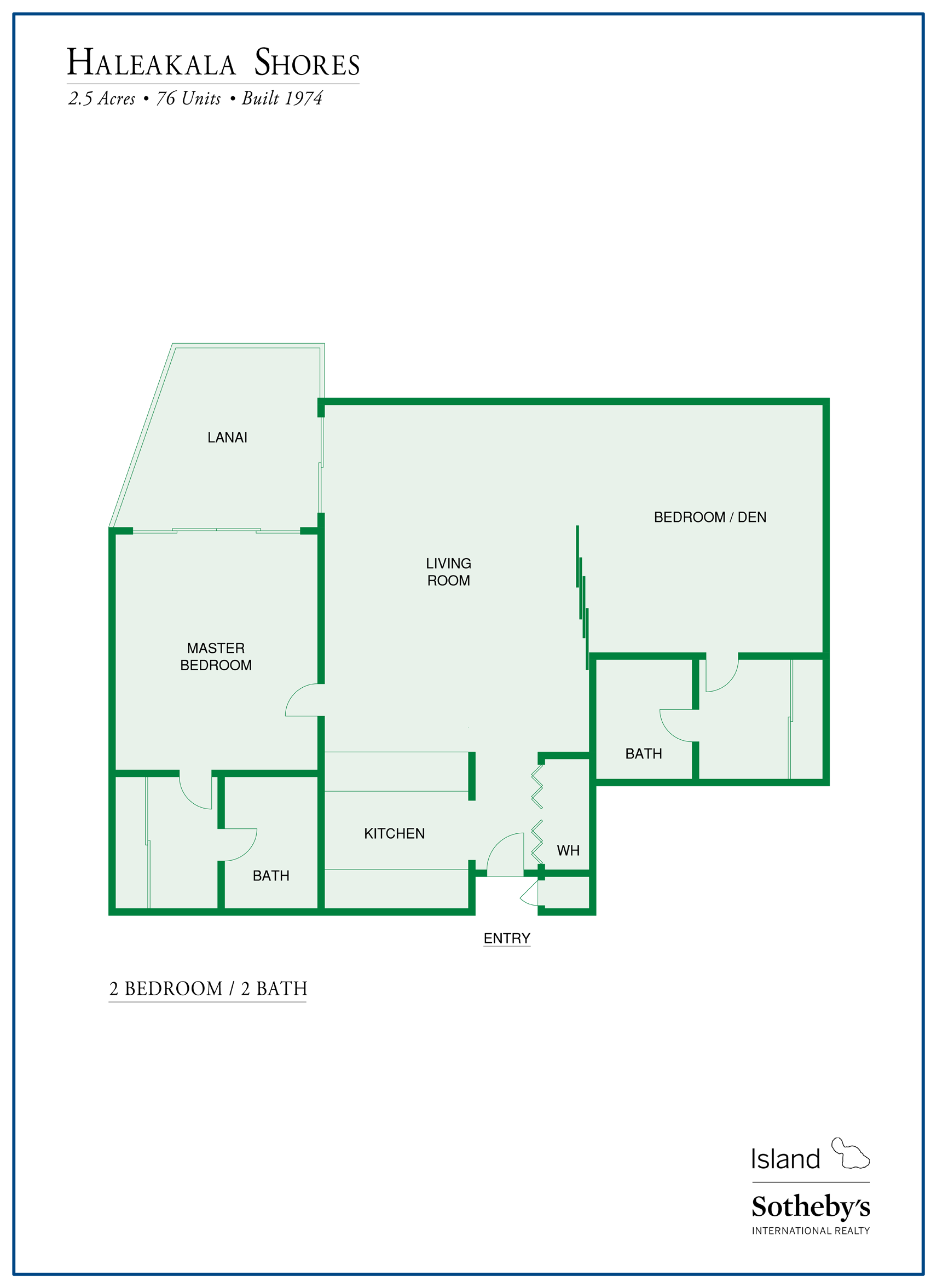 haleakala shores floor plan