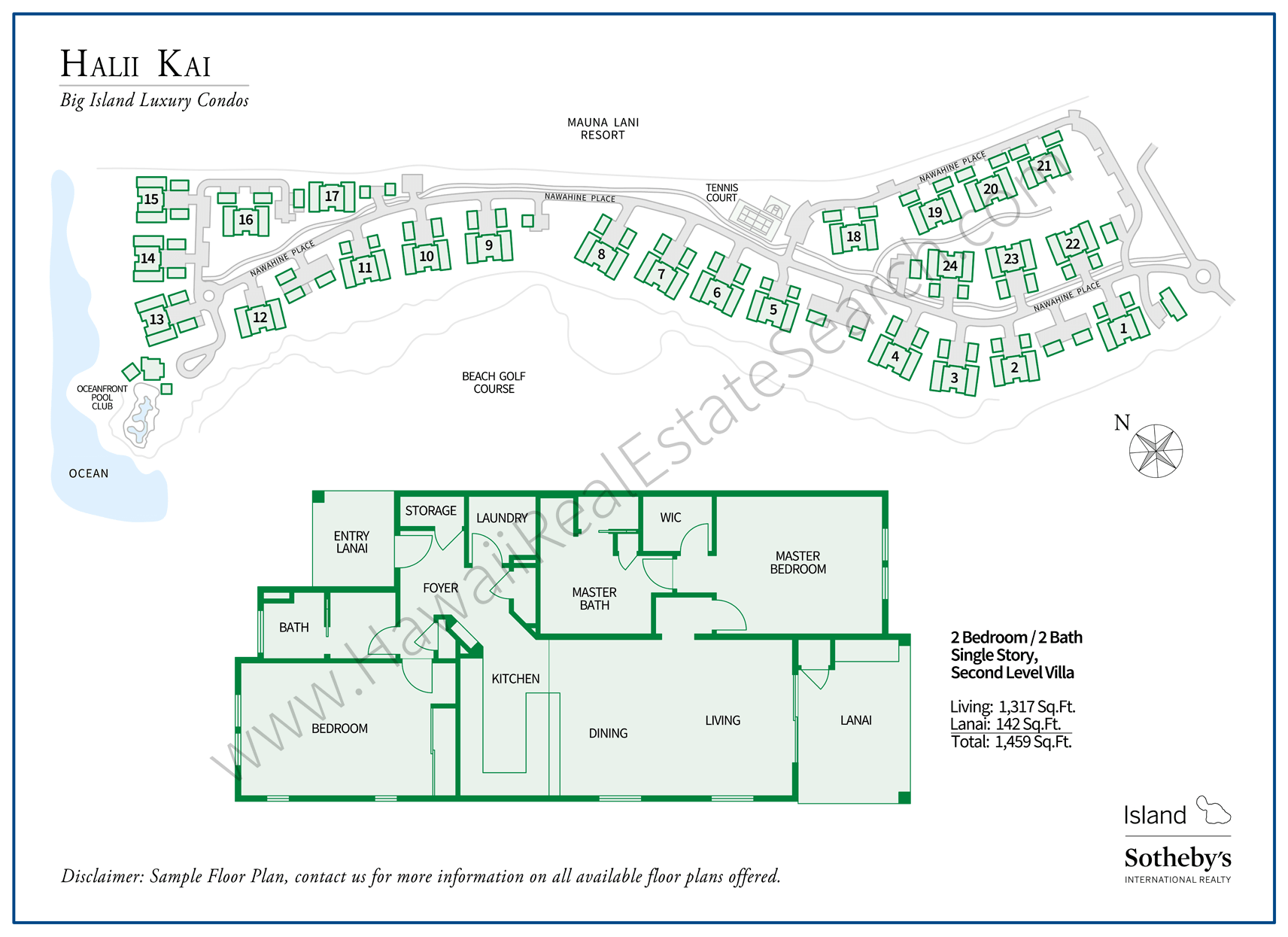 Halii Kai Property Map