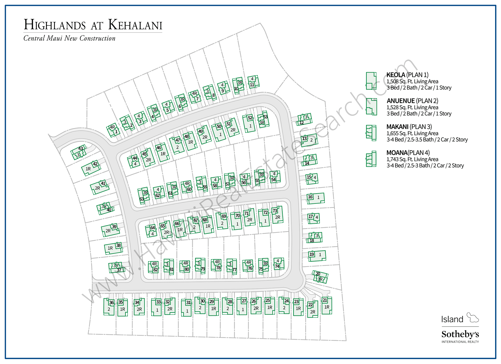 Highlands at Kehalani Map