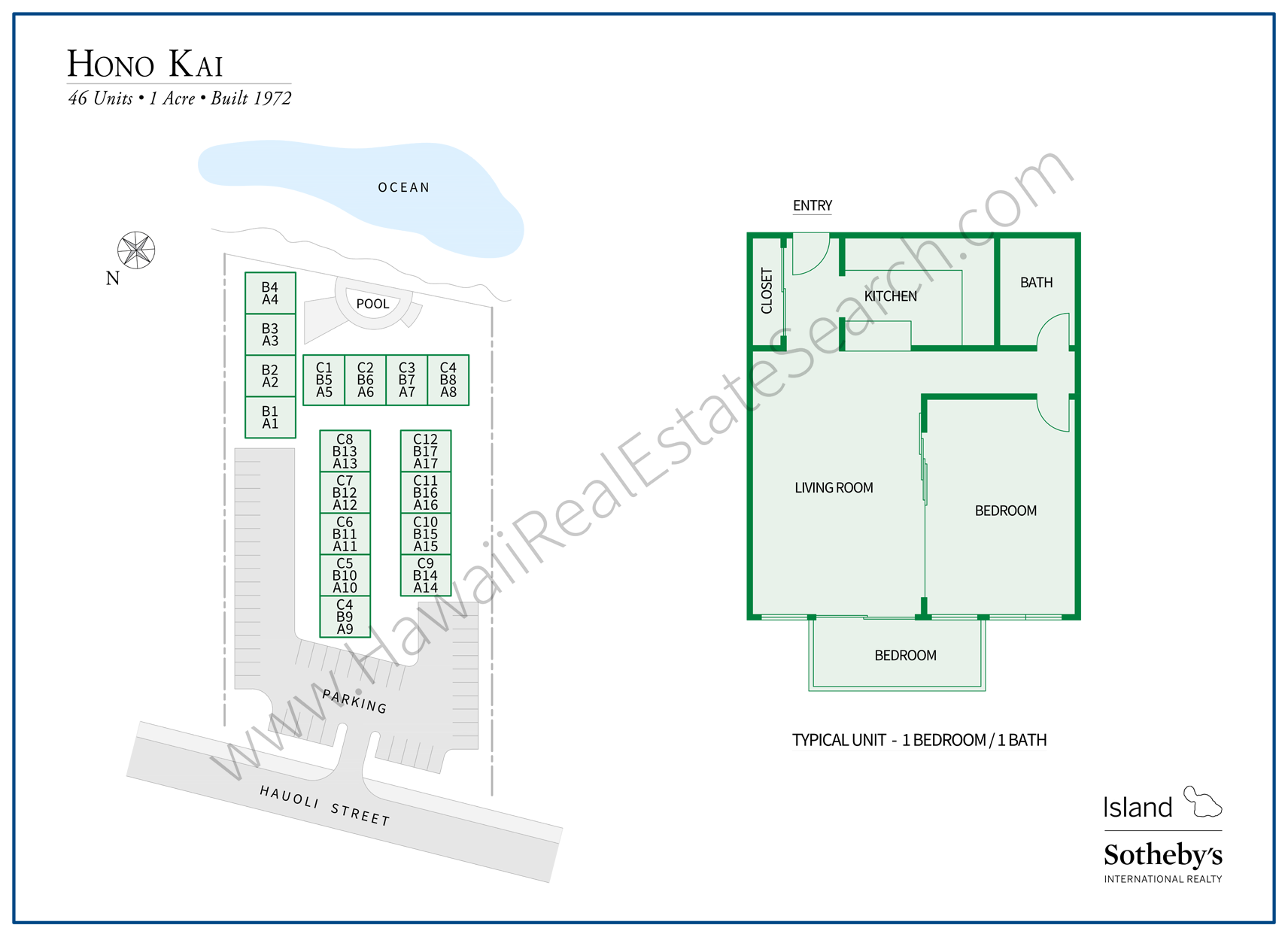 hono kai map and floor plan