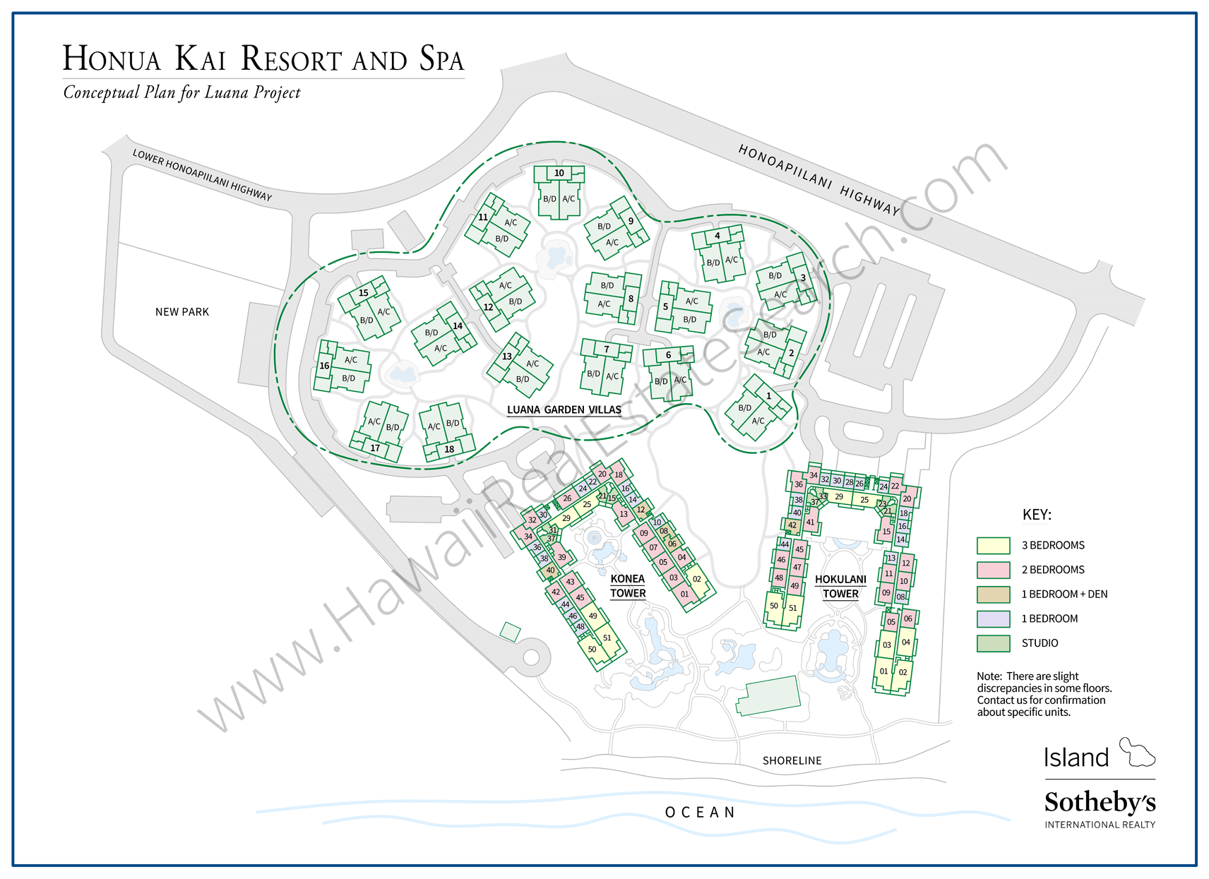 Honua Kai Map Updated 2019