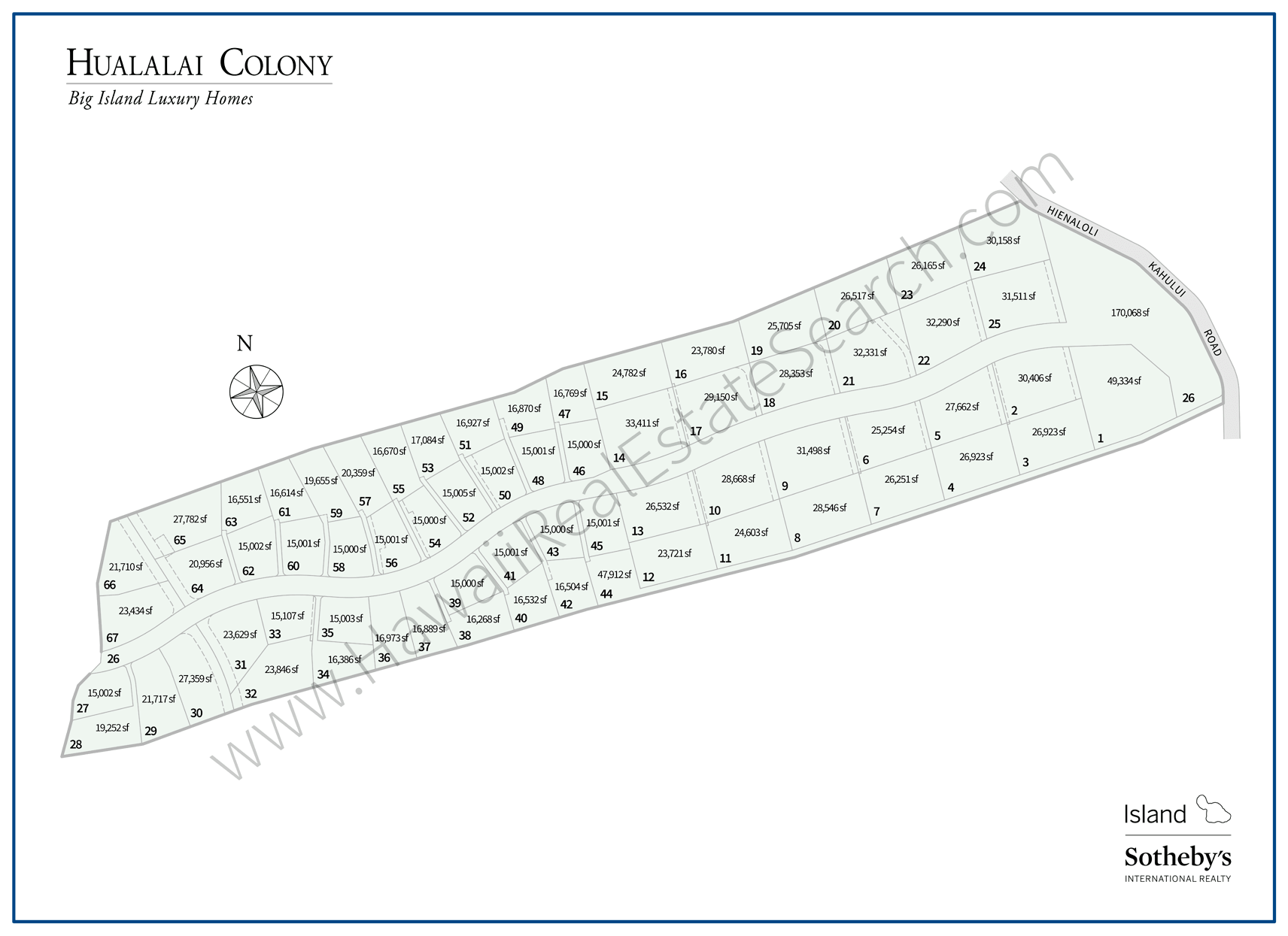 Hualalai Colony Neighborhood Map