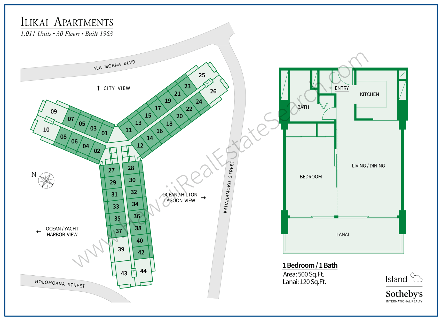 Ilikai Apt Building Map