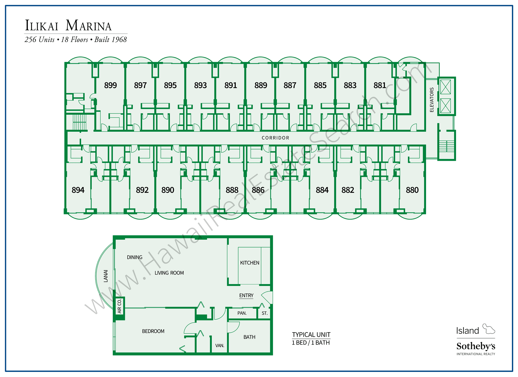 Ilikai Marina Map and Floor Plan