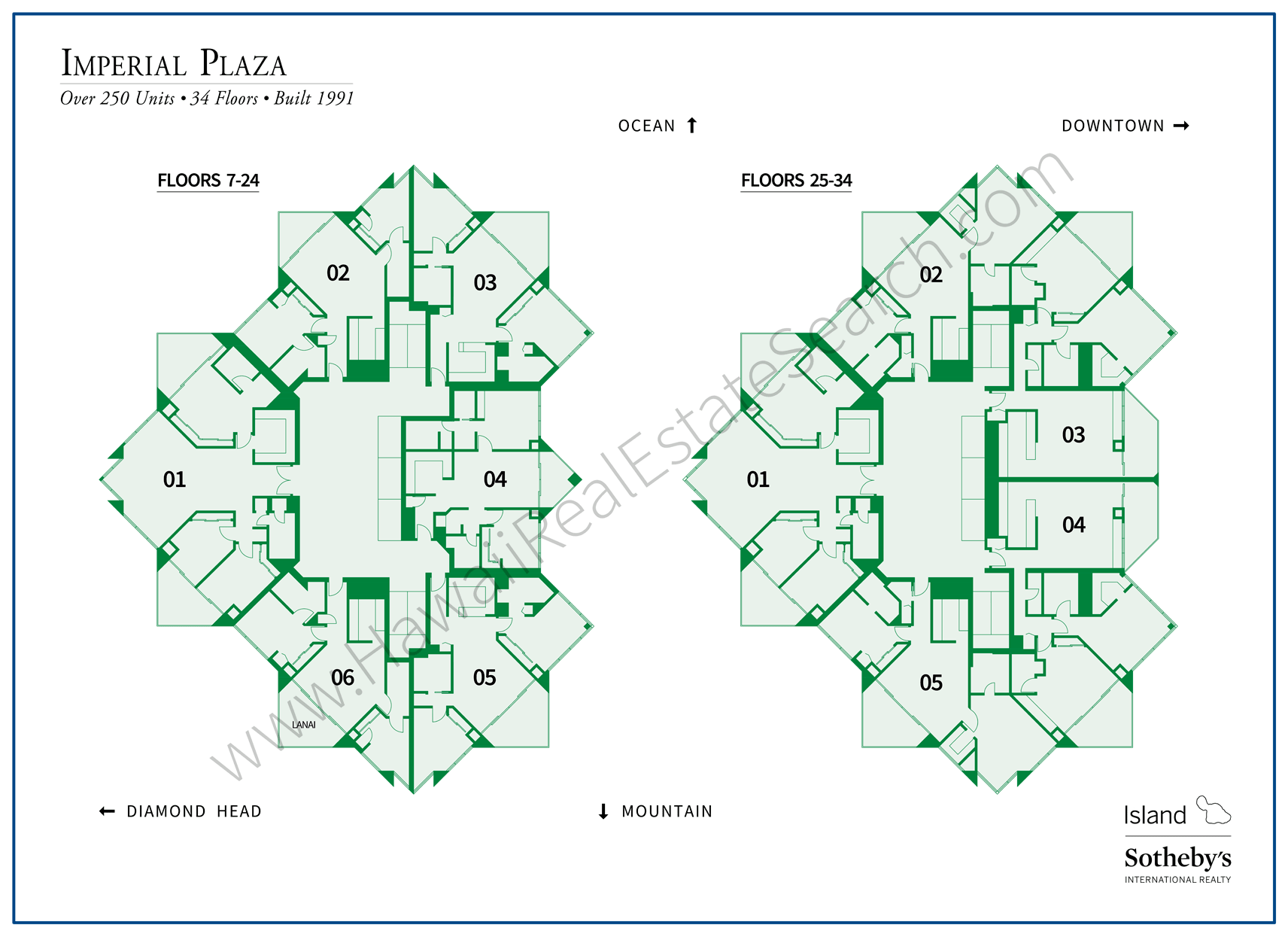 Imperial Plaza Map Hawaii