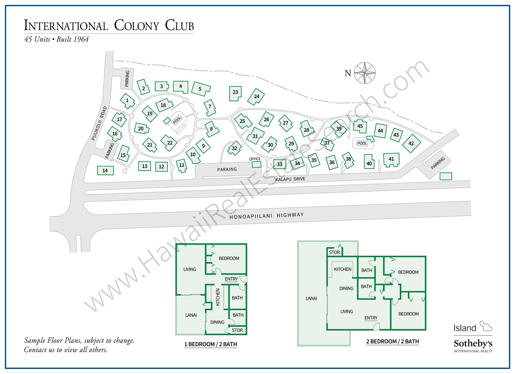 International Colony Club Map and Floor Plans