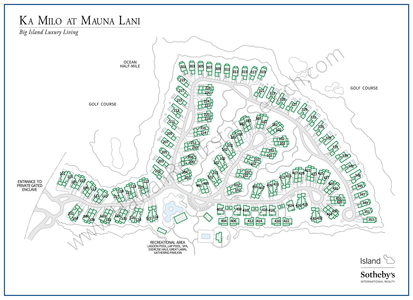 Ka Milo at Mauna Lani Property Map