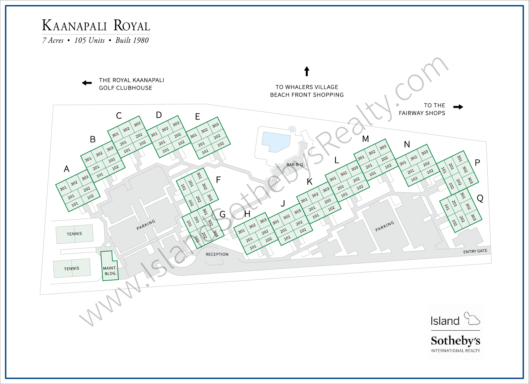 Kaanapali Royal Map