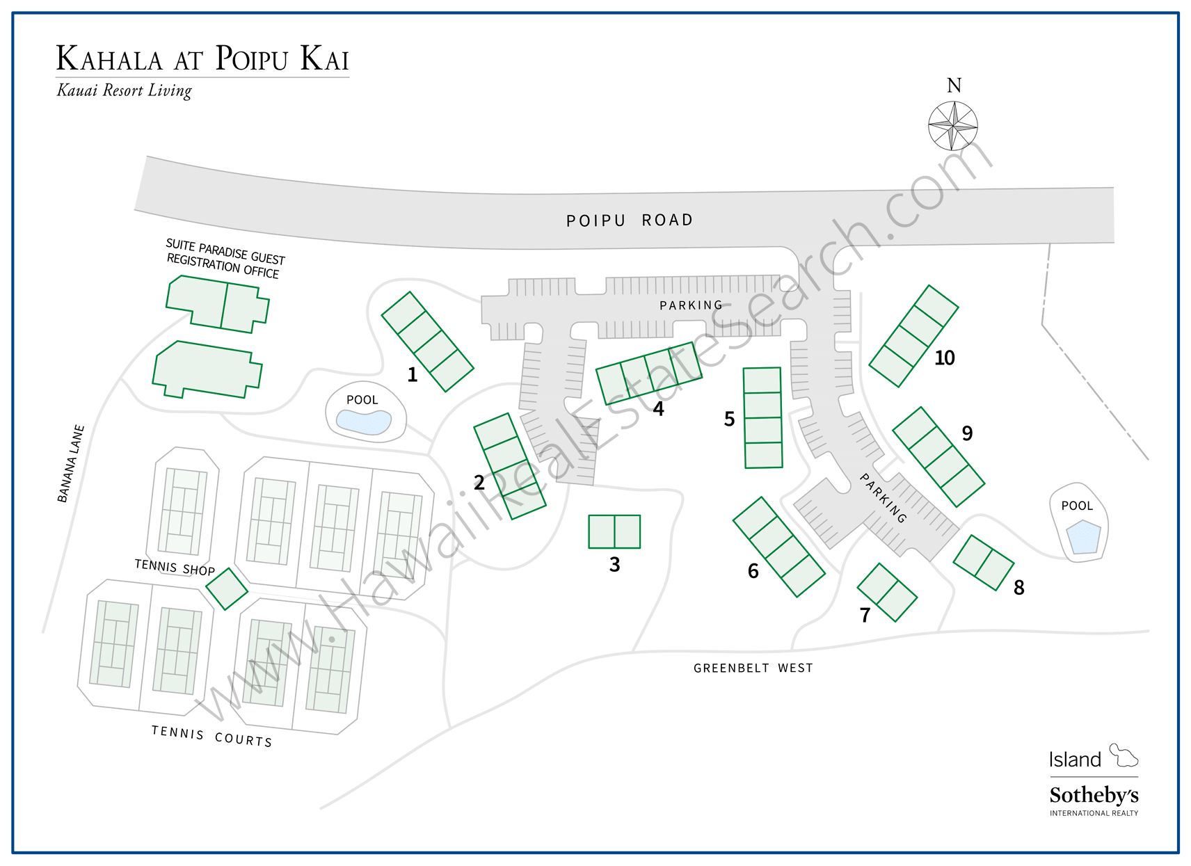 Kahala at Poipu Kai Map
