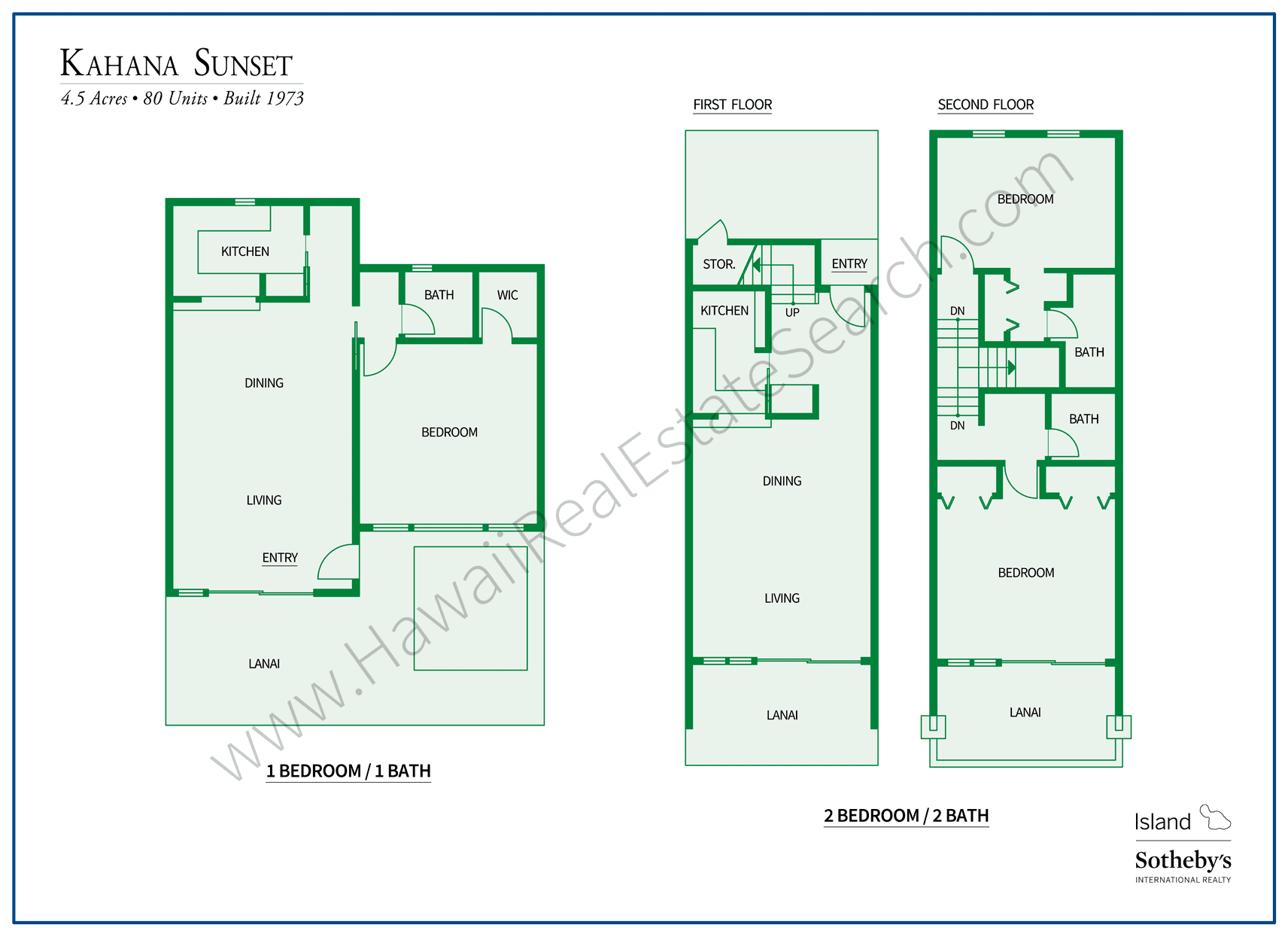 Kahana Sunset Floor Plans