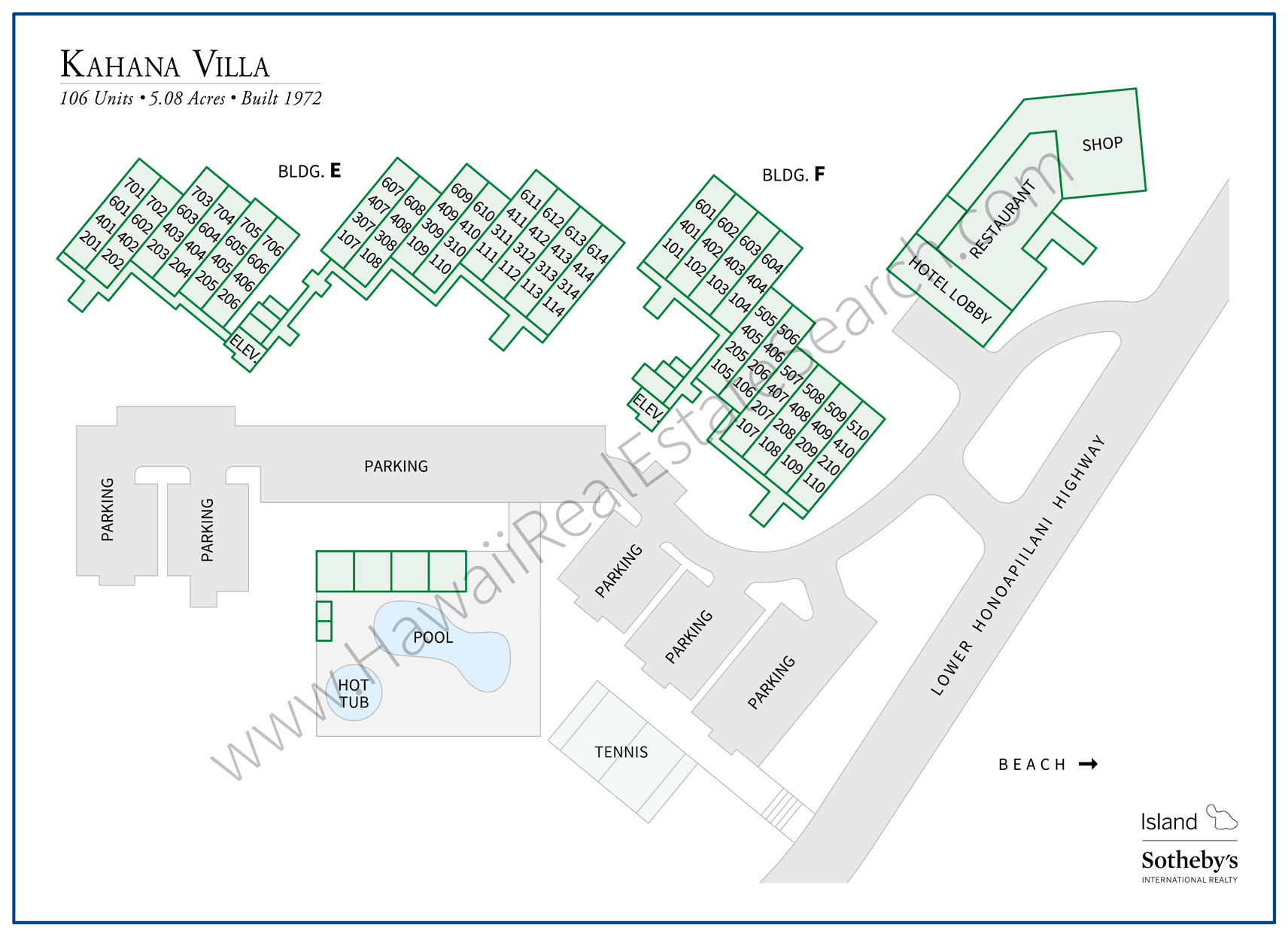 Kahana Villa Map Updated