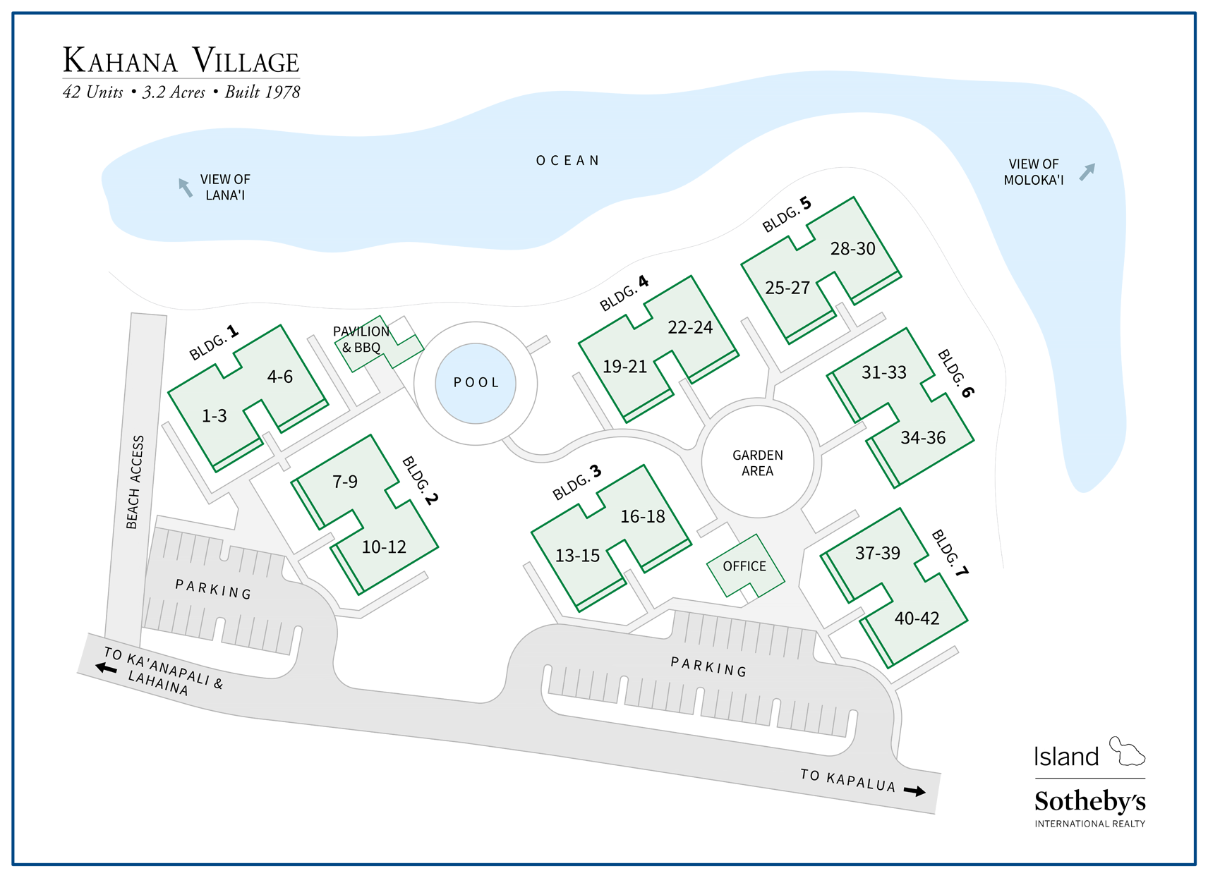 kahana village map