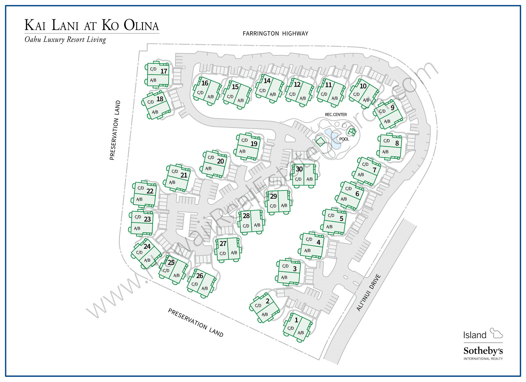 Kai Lani at Ko Olina Property Map
