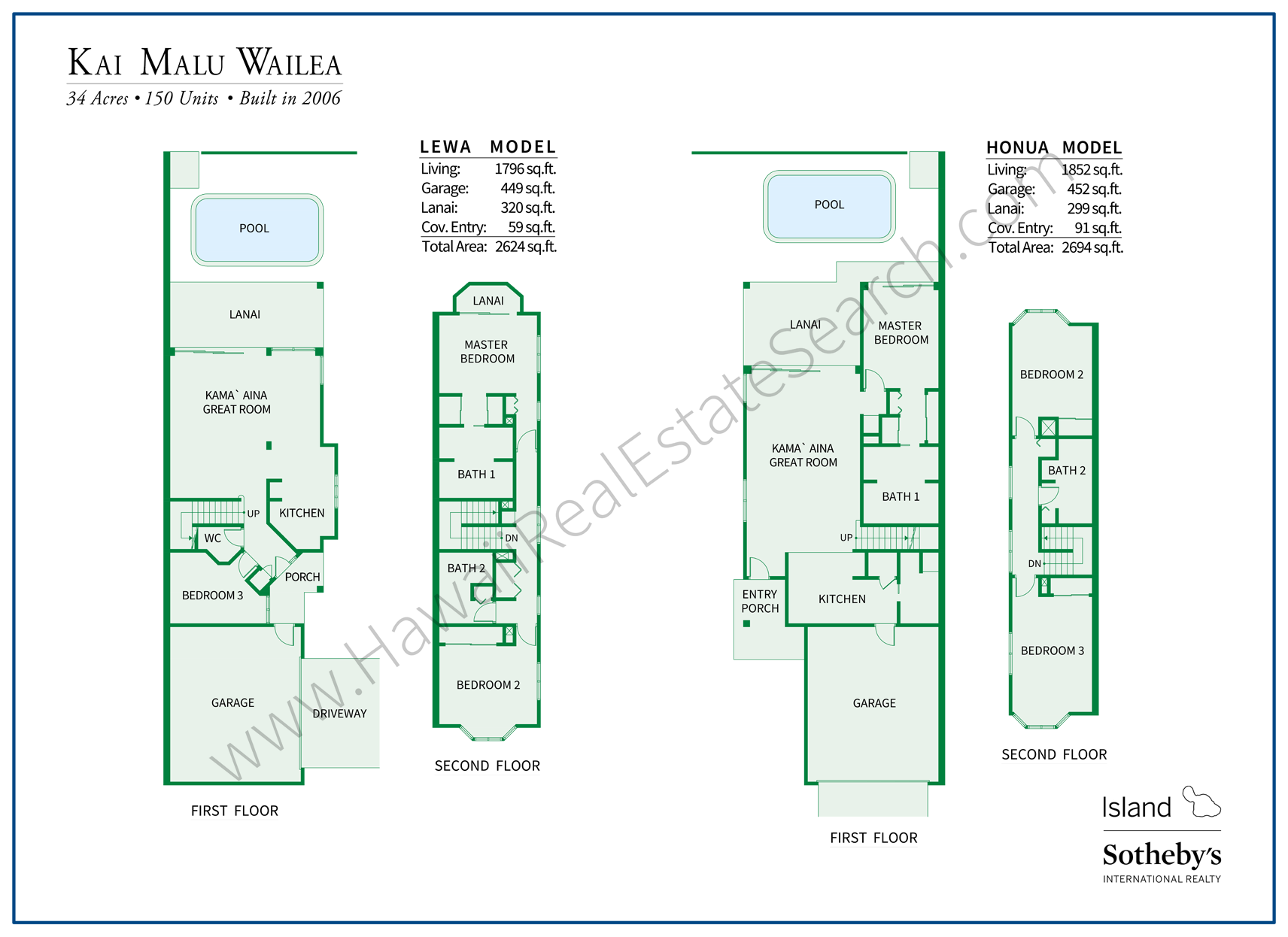 kai malu floor plans wailea