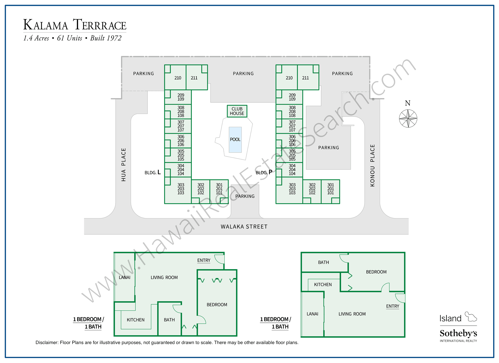 Kalama Terrace Map and Floor Plans