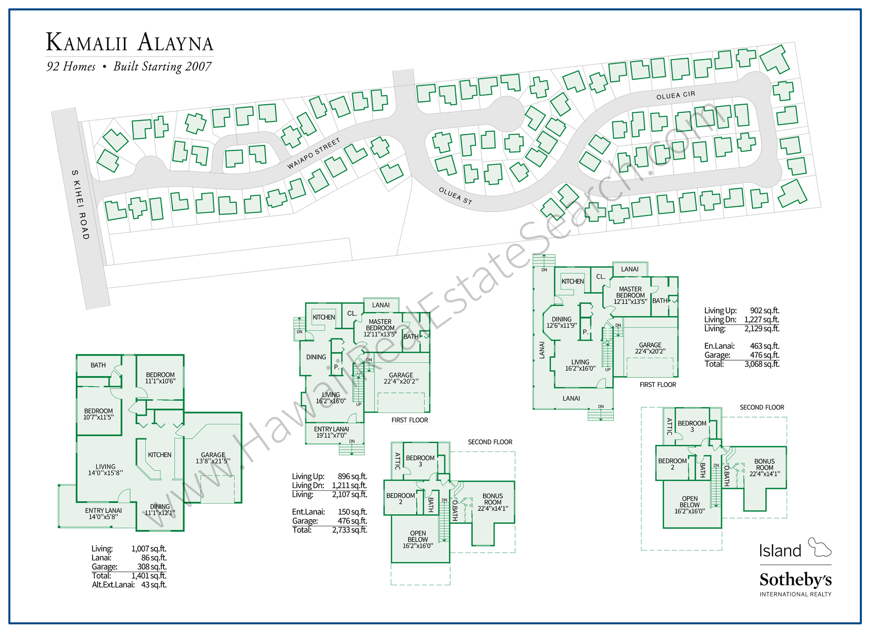 kamalii alayna map and floor plans