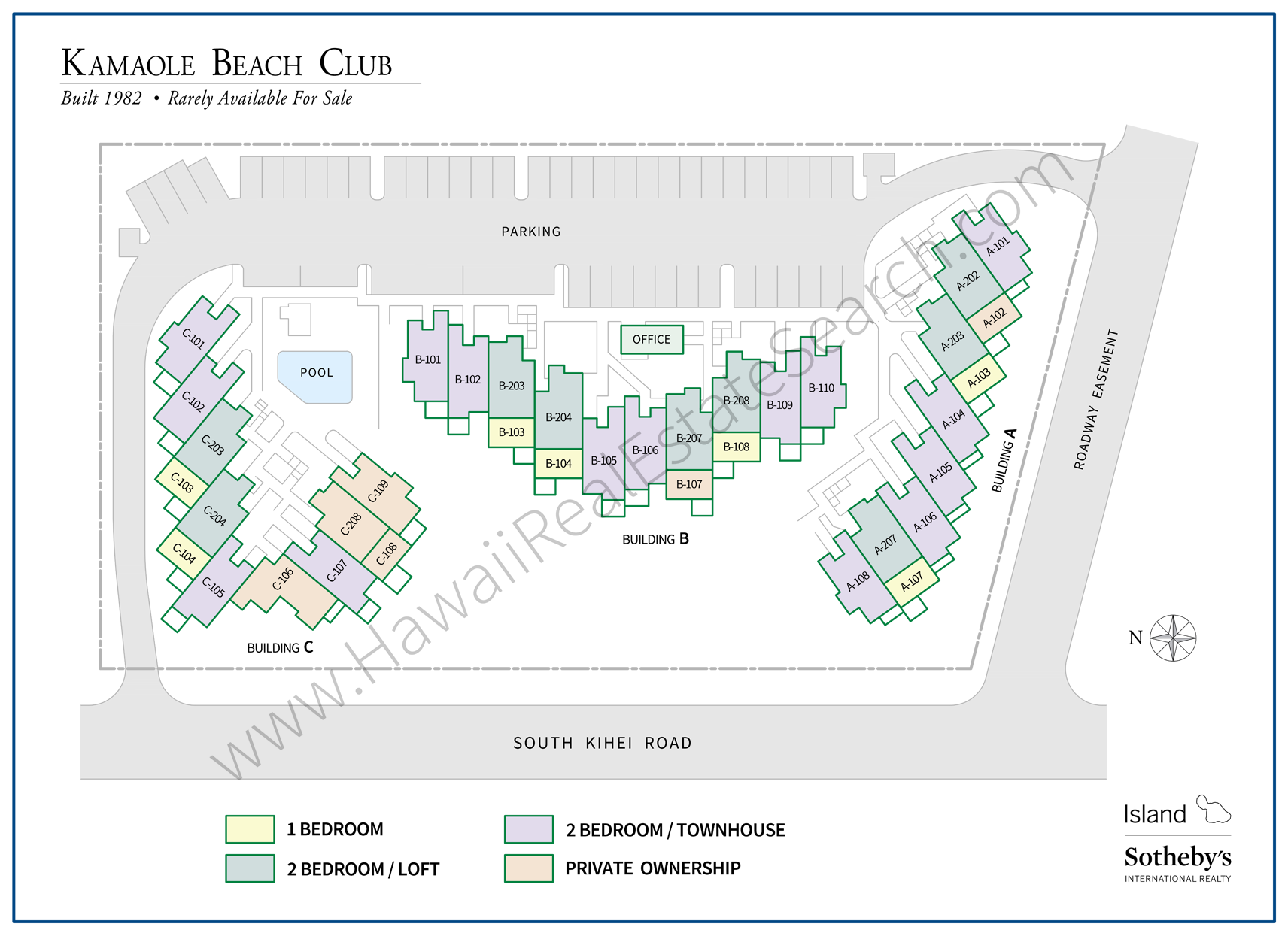 Kamaole Beach Club Map