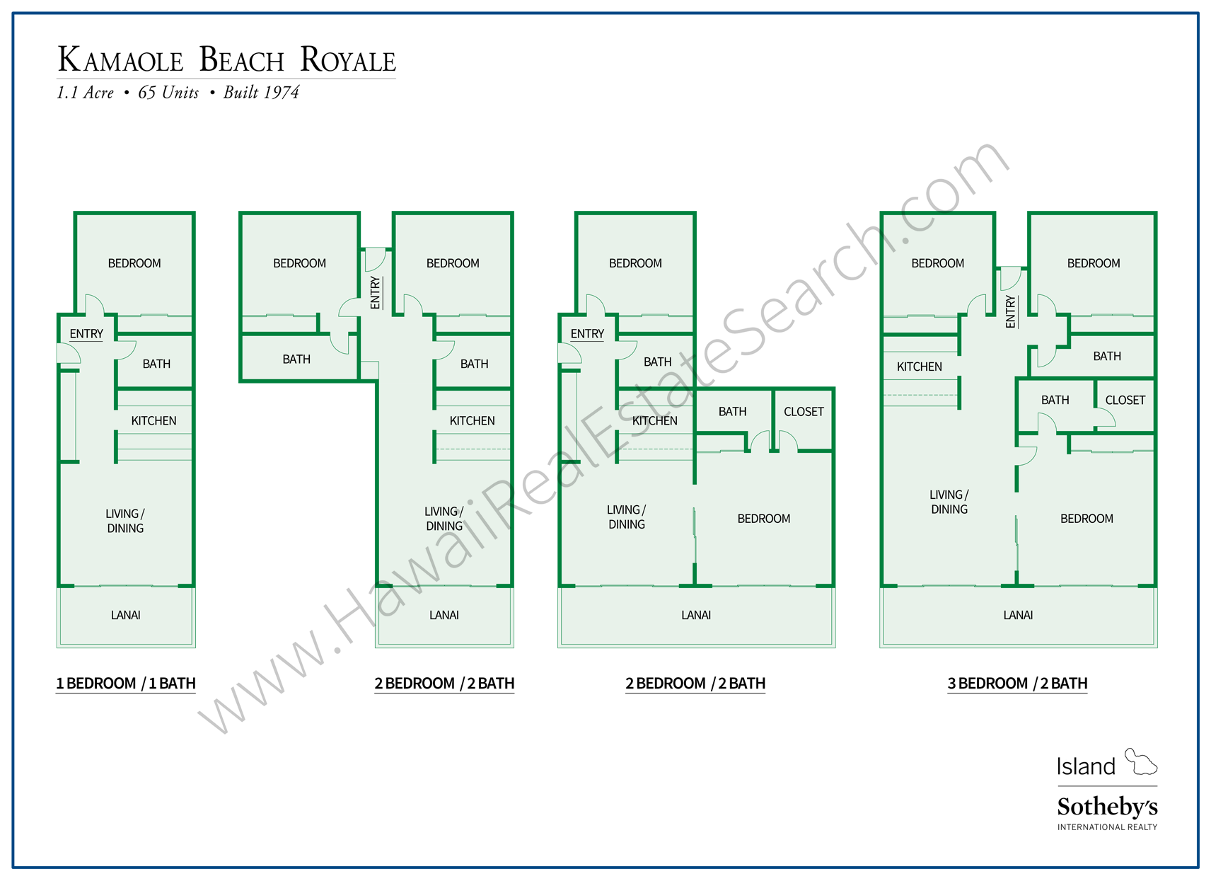 Kamaole Beach Royale Floor Plans