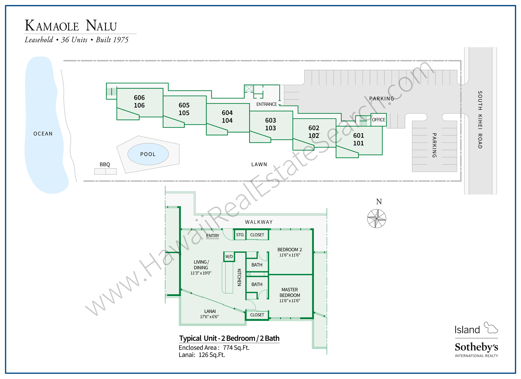 Kamaole Nalu Map with Floor Plan