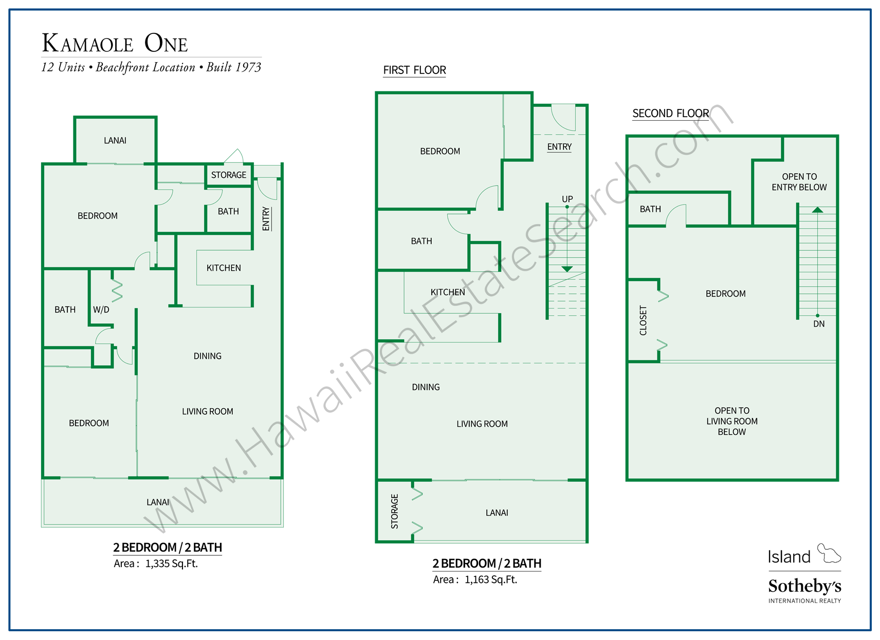 Kamaole One Floor Plans