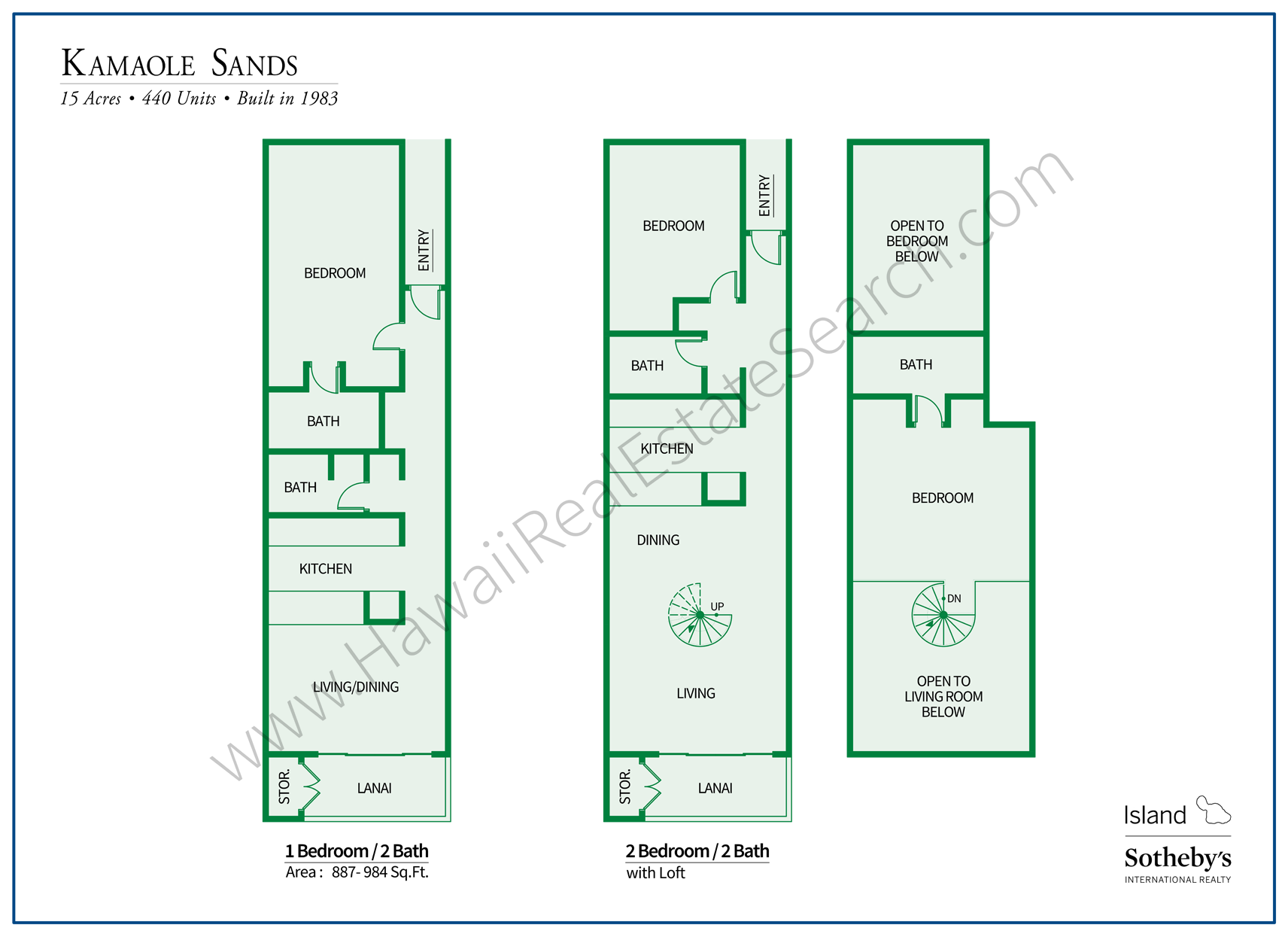 Kamaole Sands Floor Plan