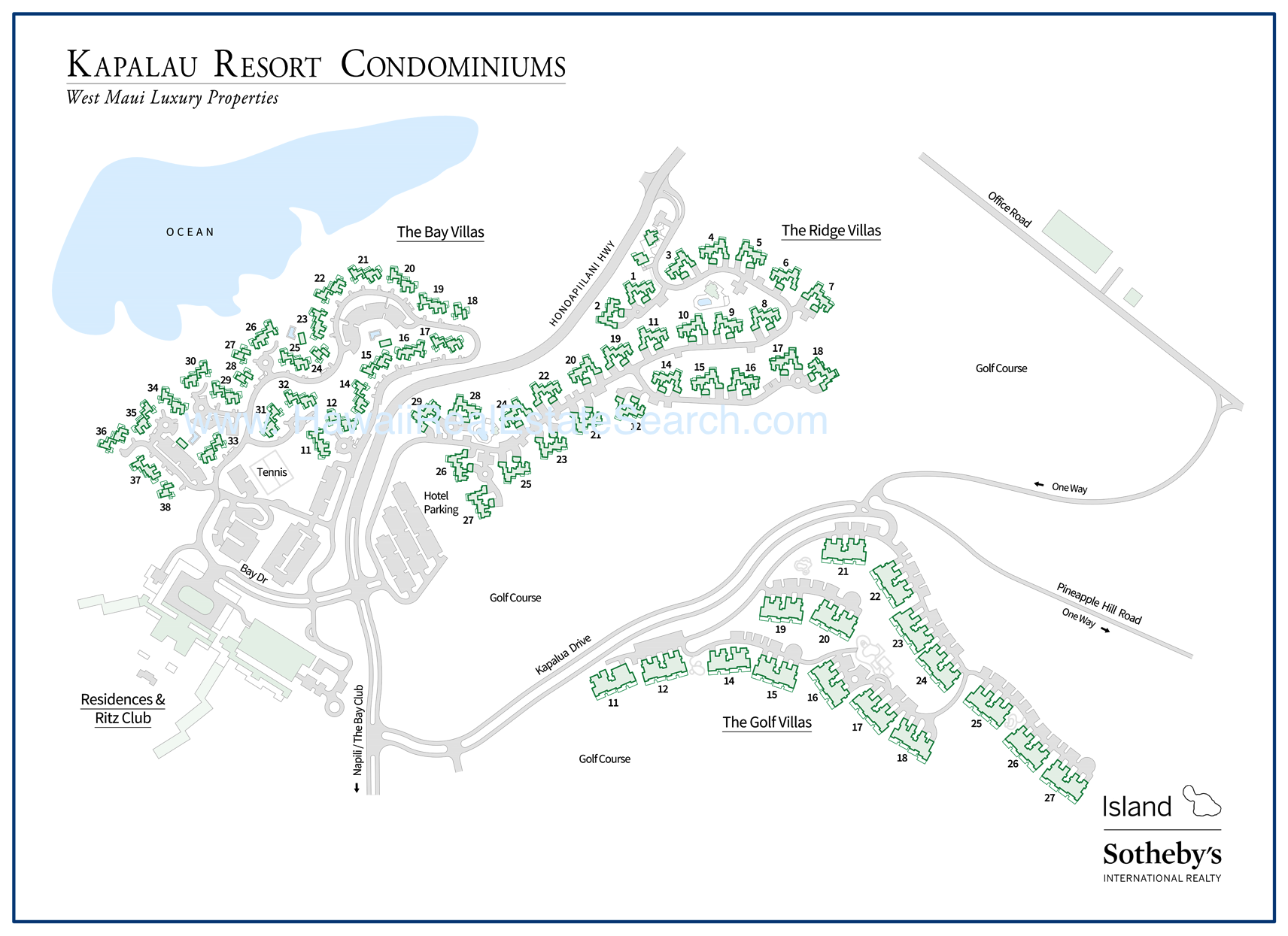 kapalua condo map