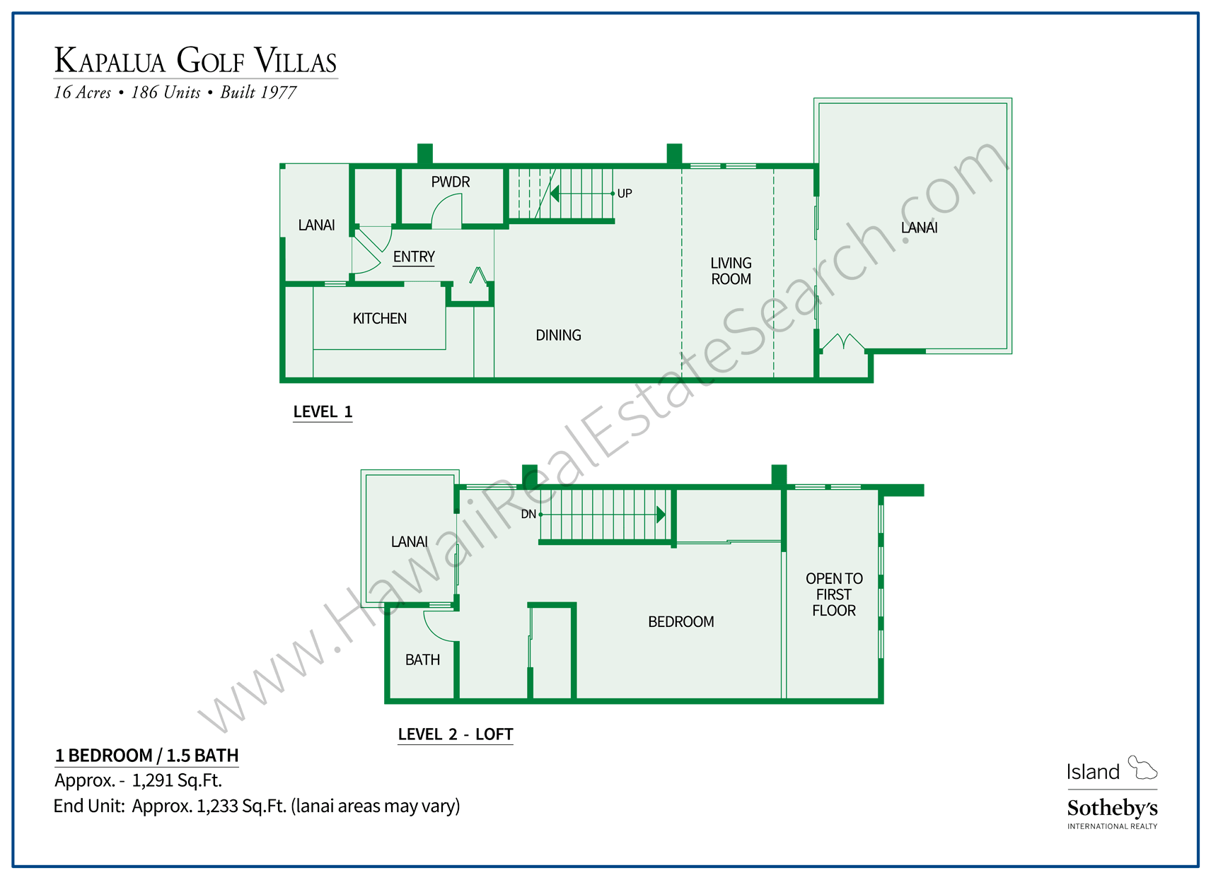 Kapalua Golf Villas Floor Plan 2
