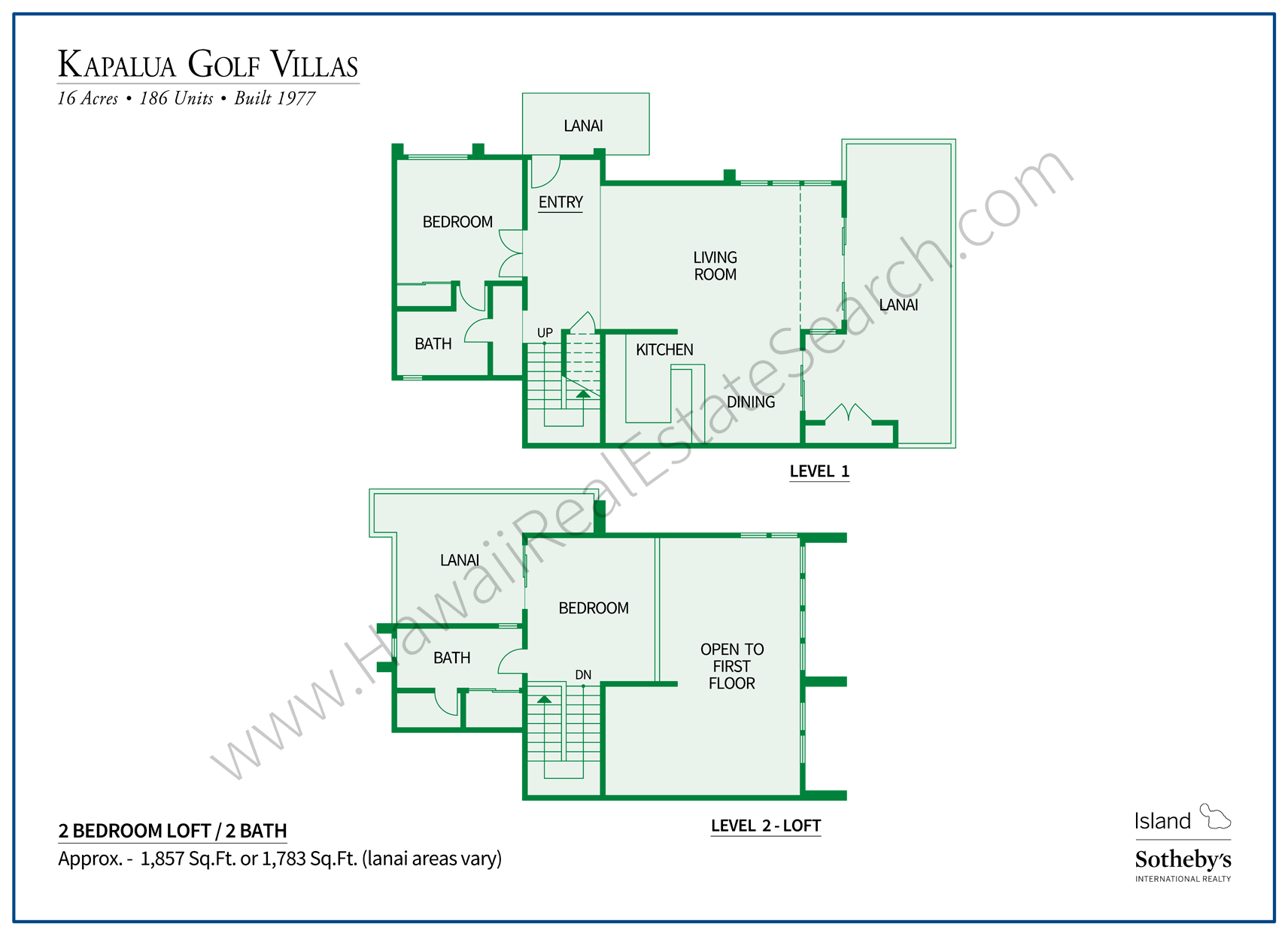 Kapalua Golf Villas Floor Plan 4