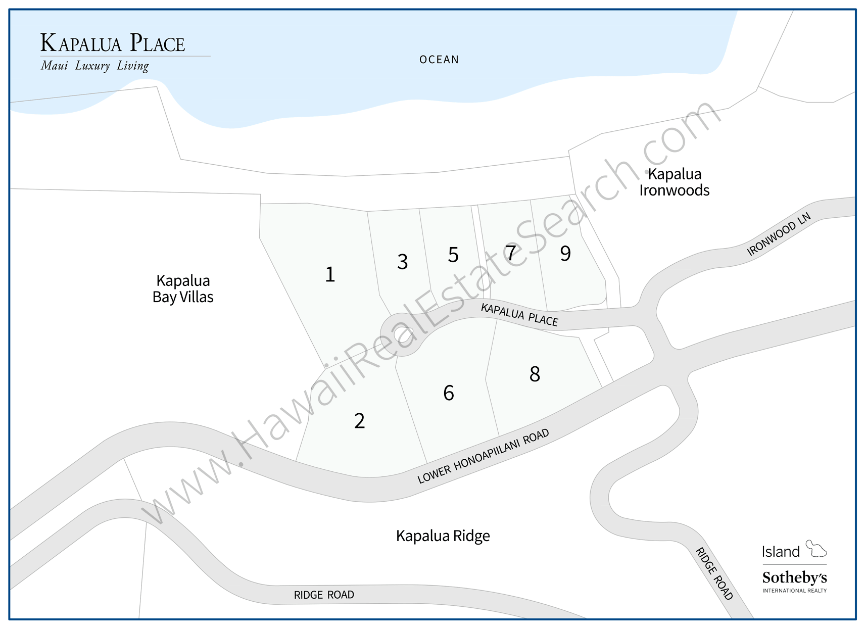 Kapalua Place Map Updated 2018