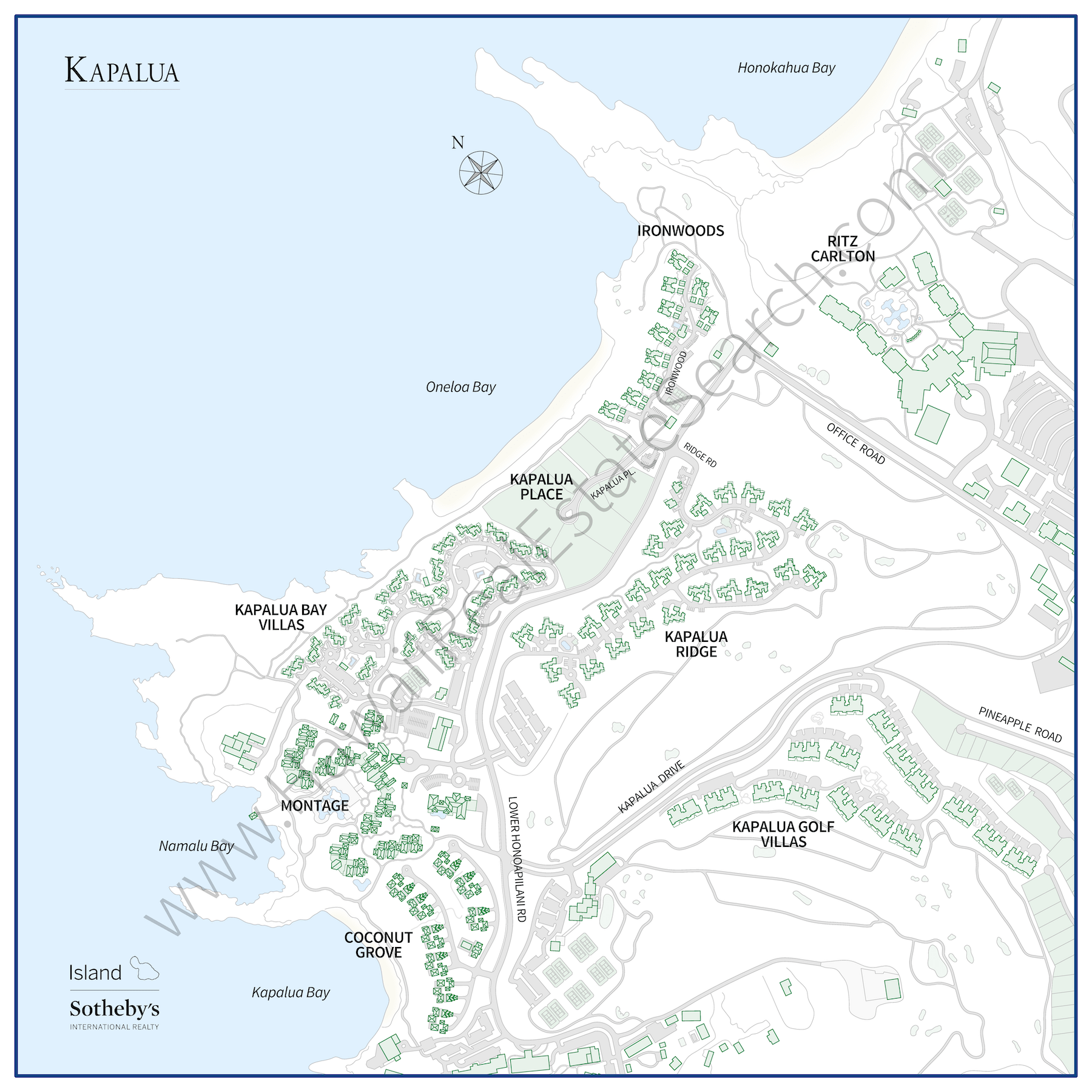 Kapalua Real Estate Map